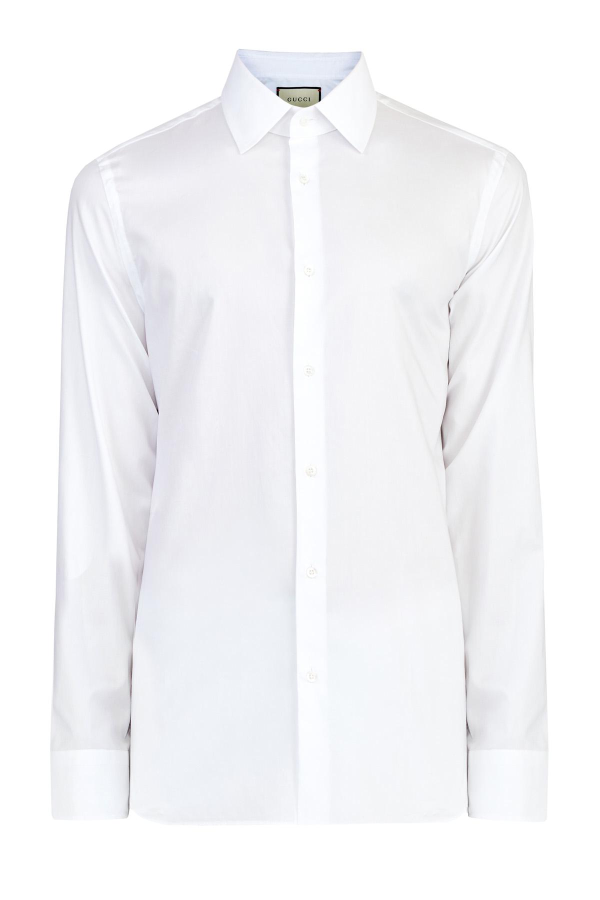 Классическая белая рубашка из хлопкового поплина