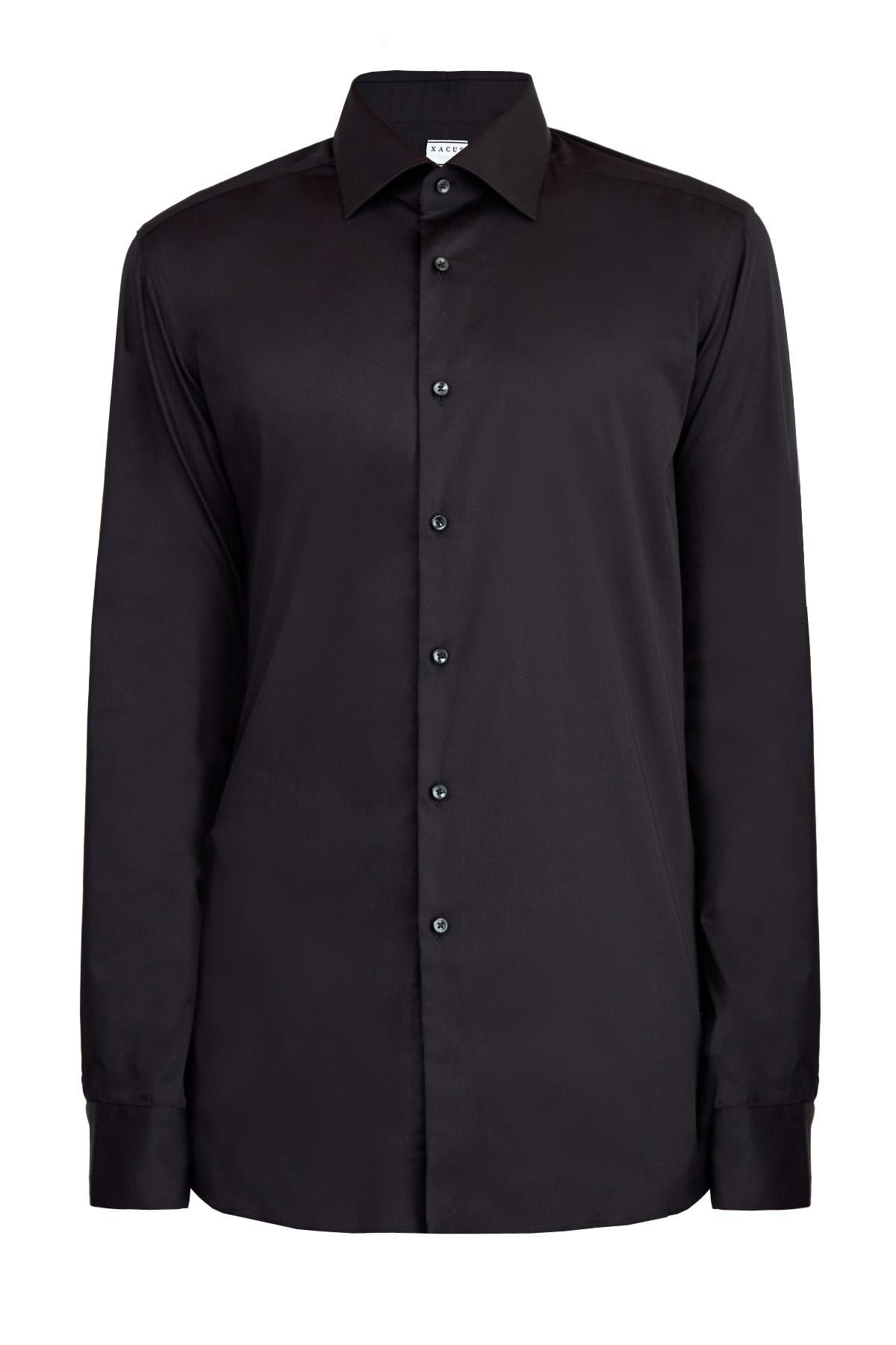 Купить со скидкой Классическая черная рубашка силуэта Tailor Fit из эластичного хлопка