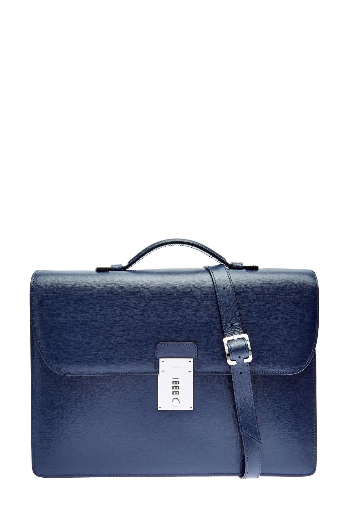 Кожаный портфель с кодовым замком фото