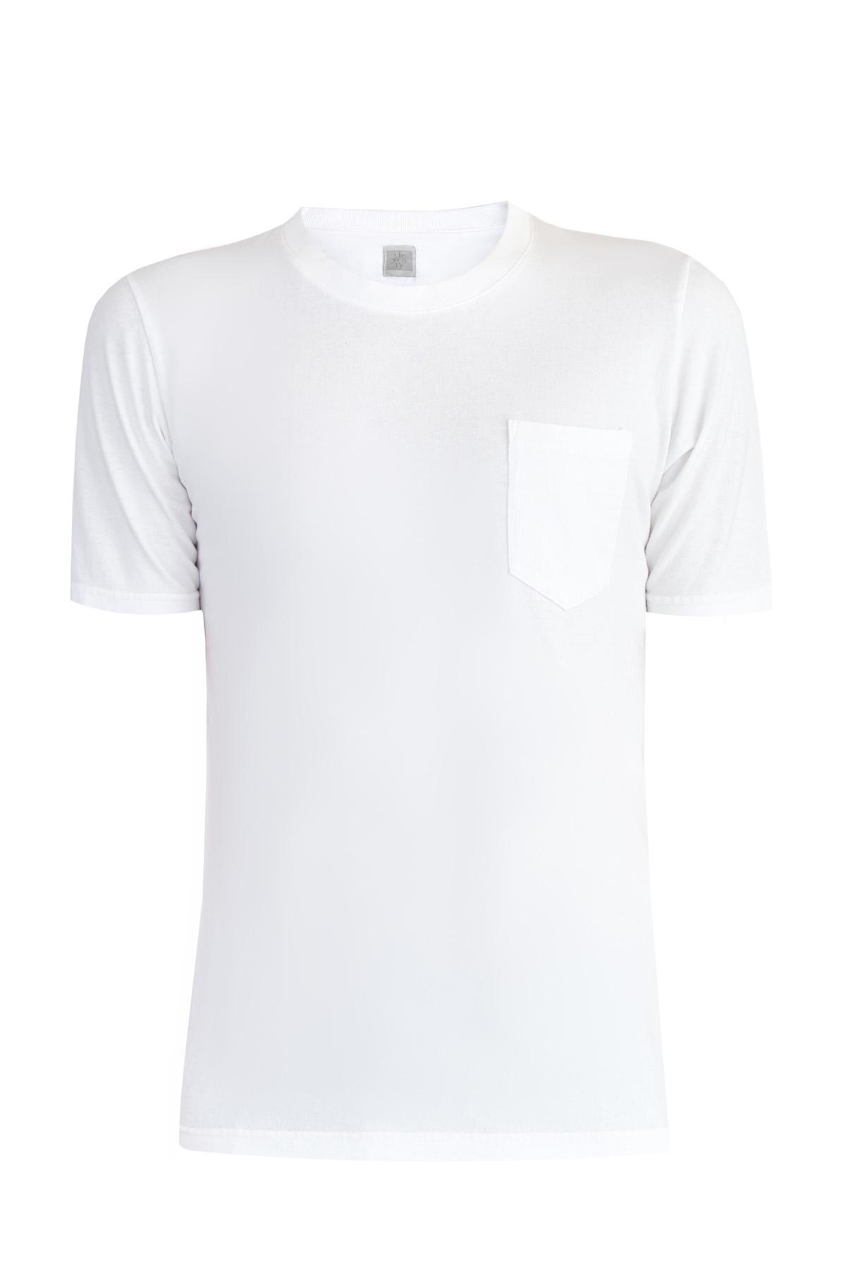 Купить Базовая футболка из хлопкового джерси с карманом, ELEVENTY, Италия, хлопок 100%
