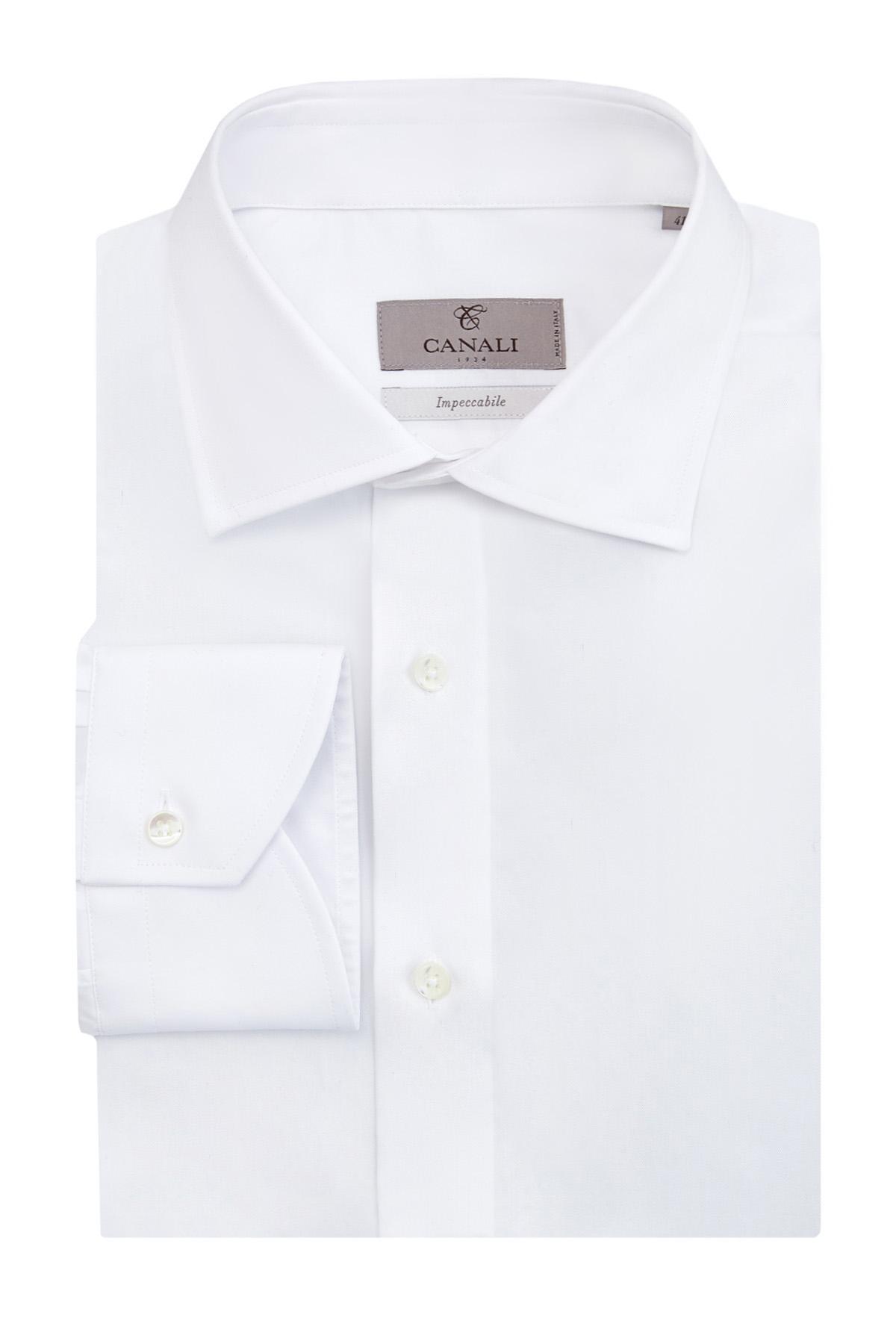 Рубашка из поплина с обработкой Impeccabile против складок