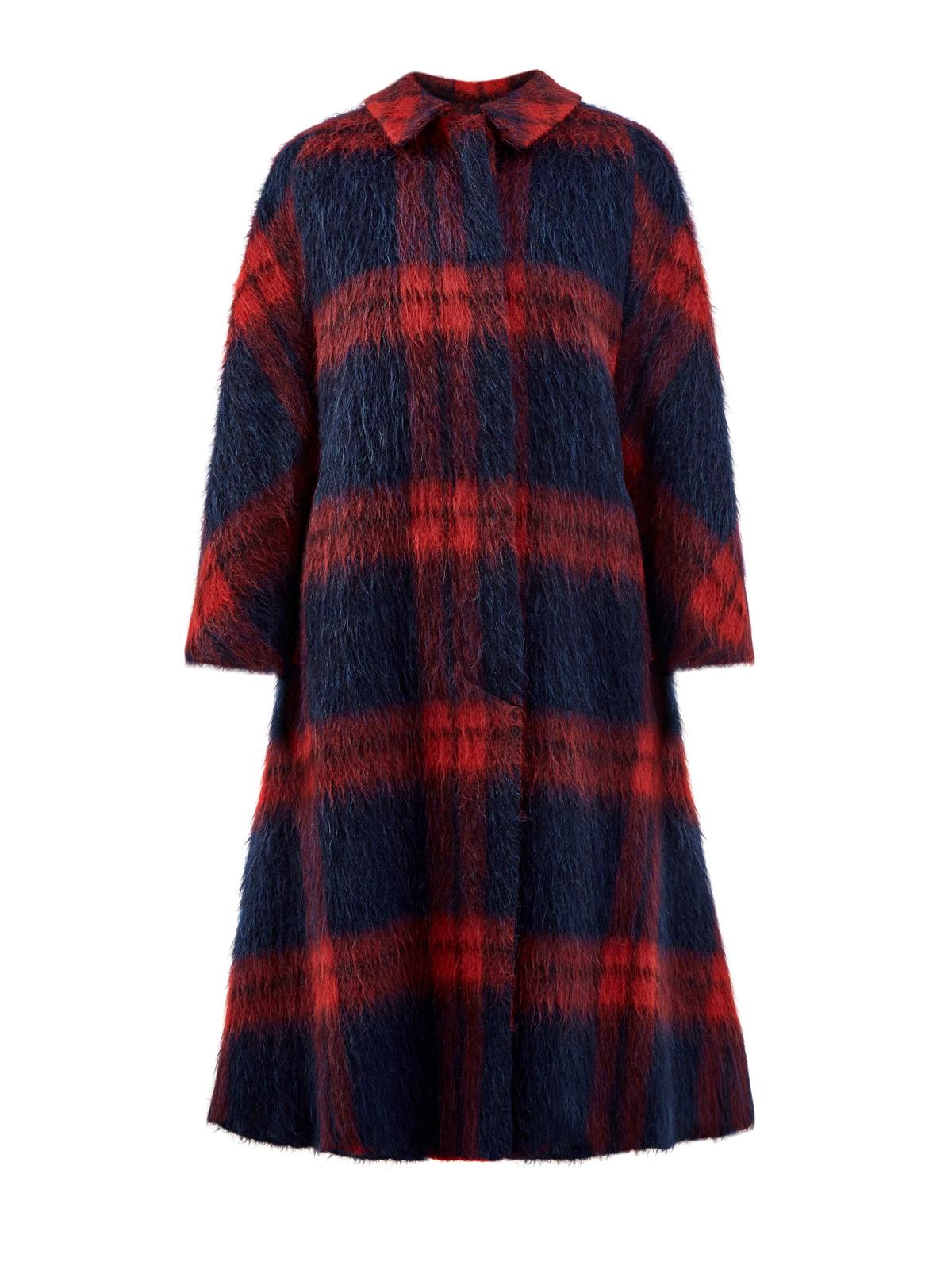 Удлиненное пальто из фактурной шерсти альпаки