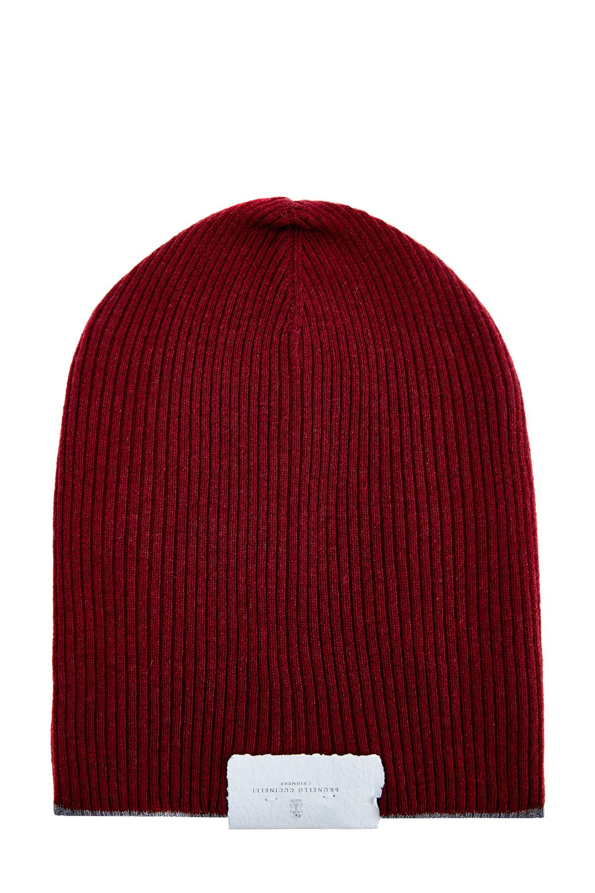 Яркая шапка из кашемировой пряжи в технике английская резинка фото