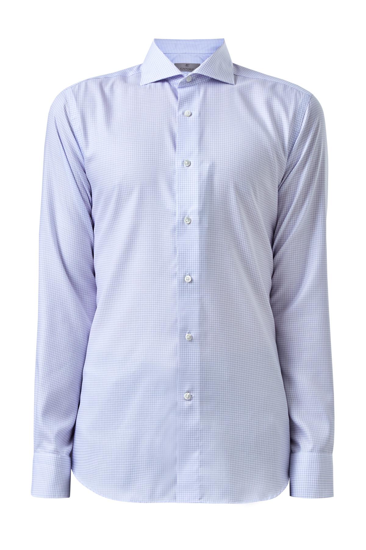 Рубашка Modern Fit из хлопка Impeccabile в линованную клетку