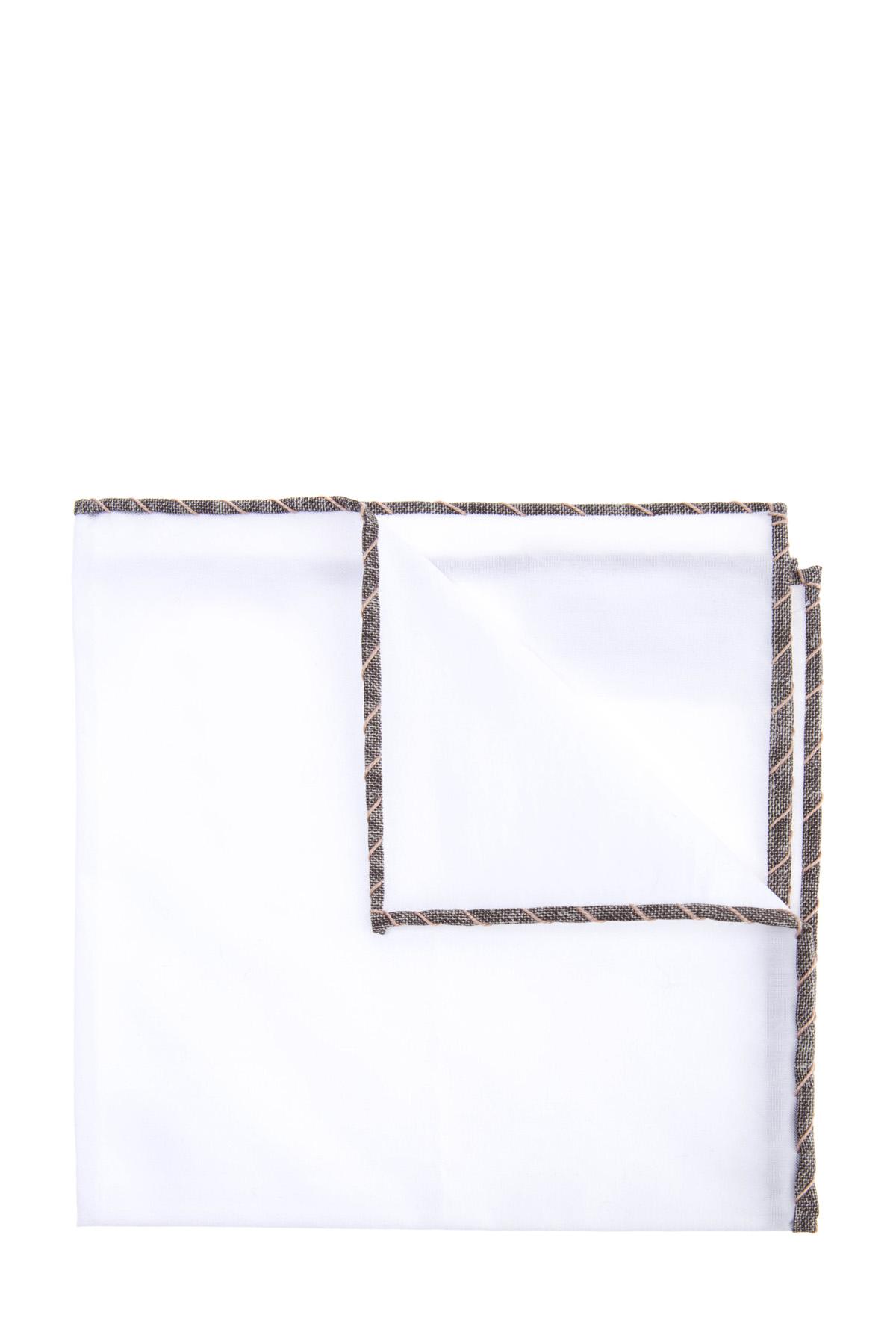 Хлопковый платок-паше с контрастным кантом