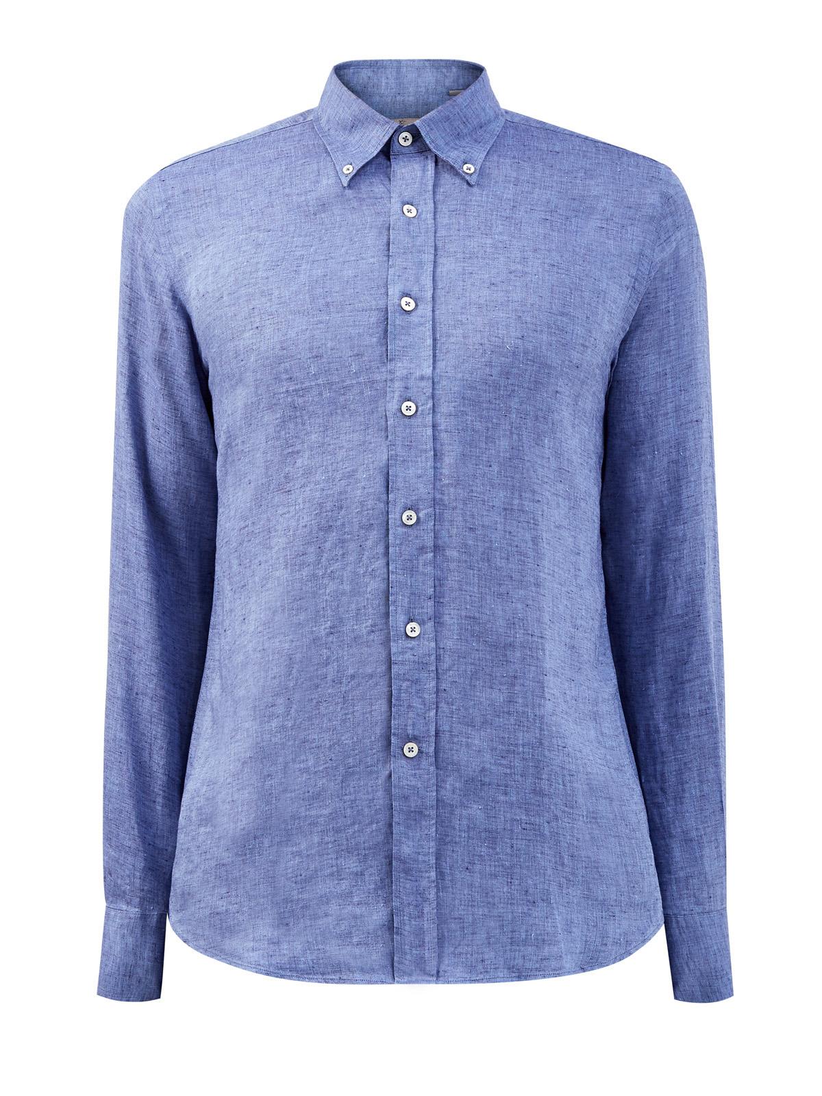 Льняная рубашка с воротником button-down