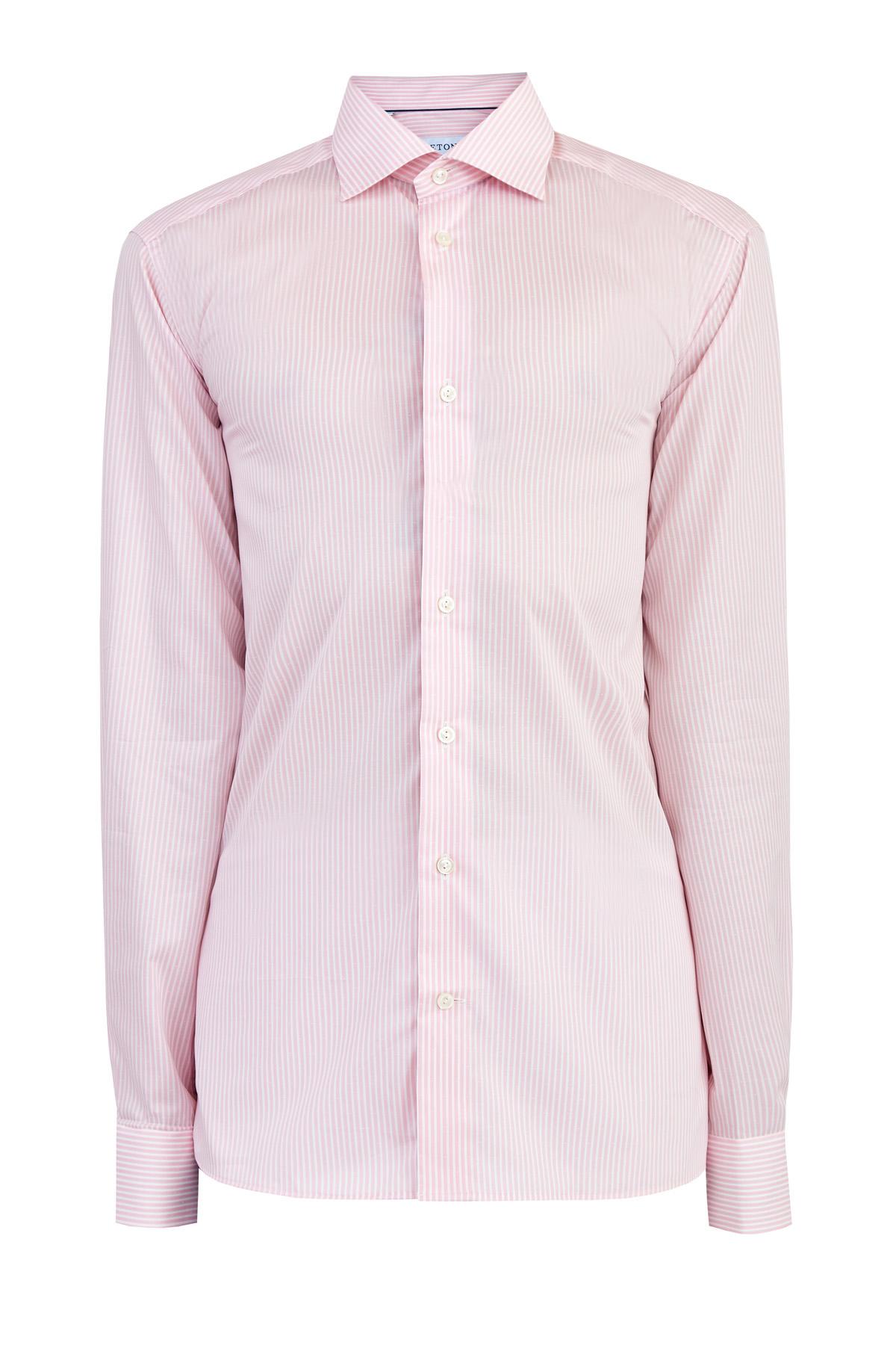 Рубашка силуэта Contemporary из твила с принтом в полоску