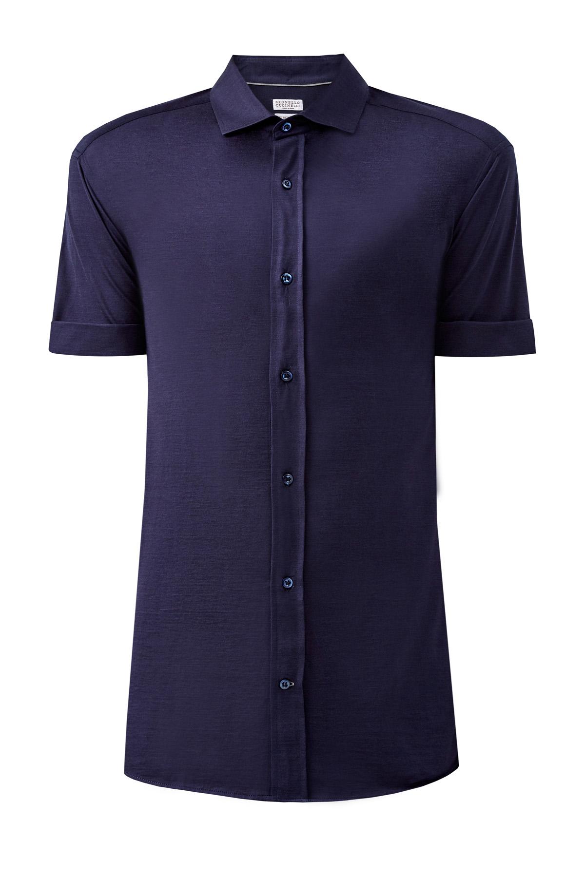 Рубашка из шелкового джерси с короткими рукавами
