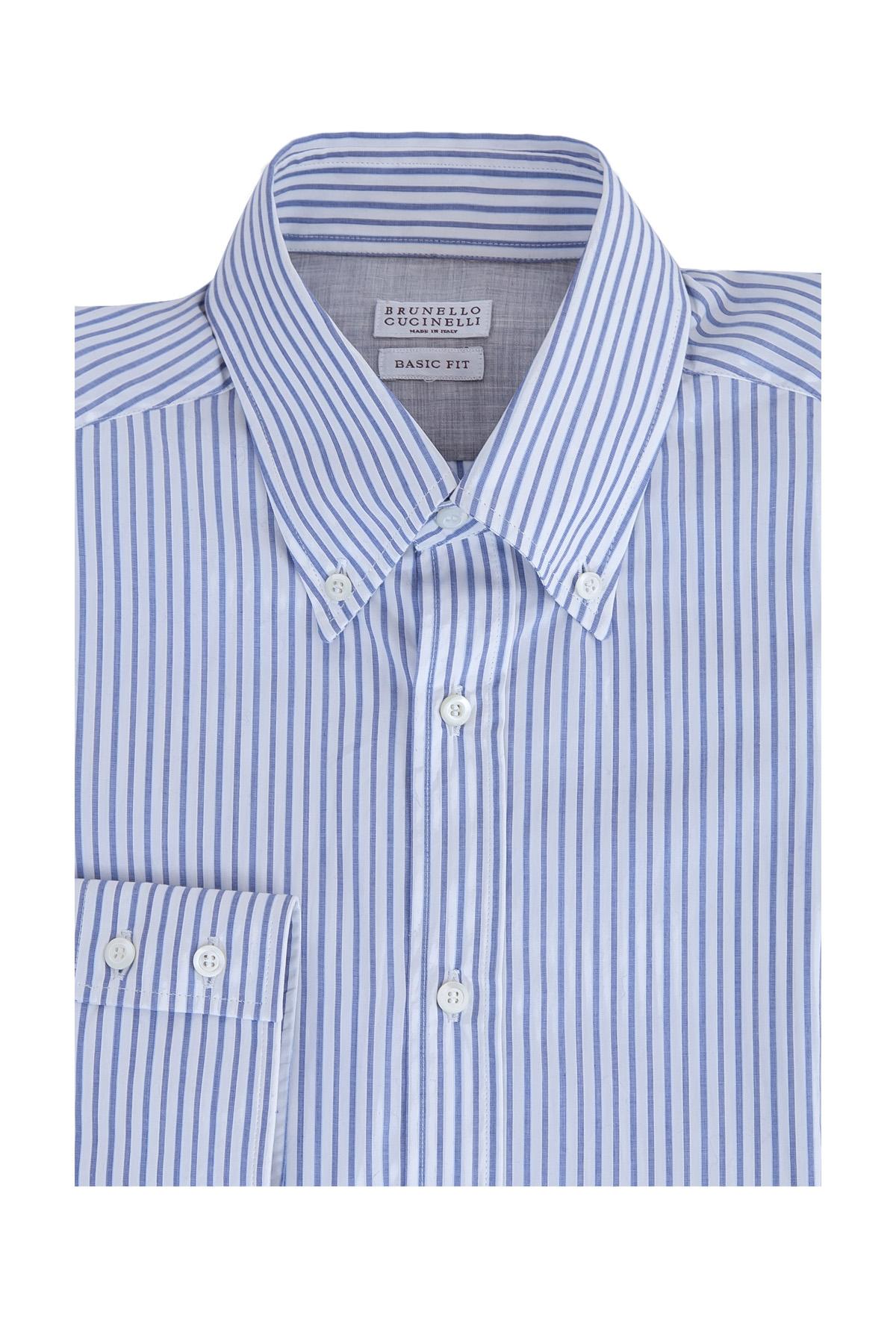 Рубашка, BRUNELLO CUCINELLI, Италия, хлопок 100%  - купить со скидкой