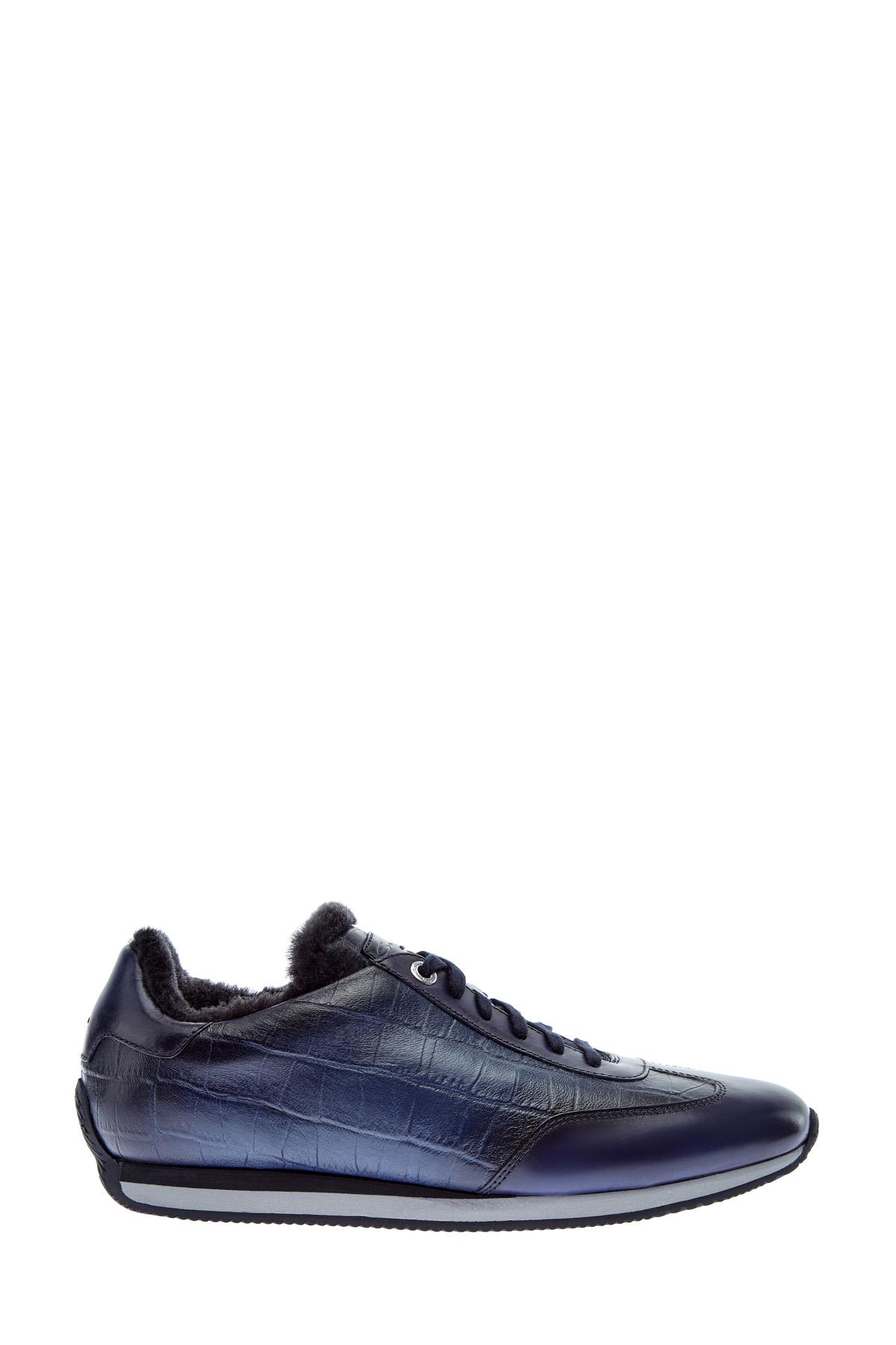 Кроссовки с мехом и светоотражающей подошвой фото