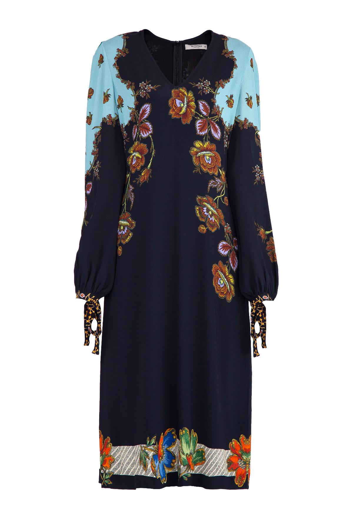 женское платье с длинным рукавом etro
