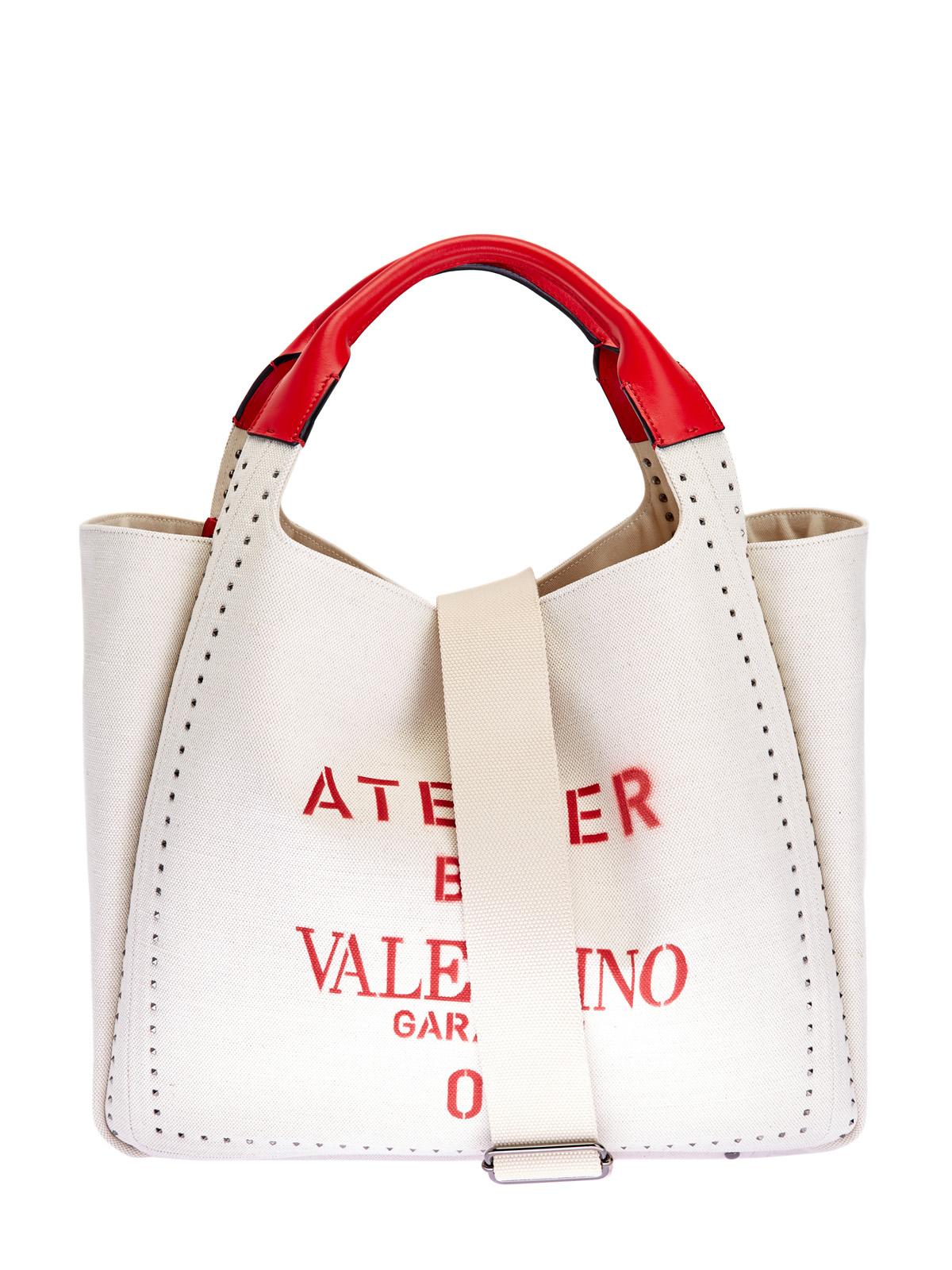 Сумка Atelier Bag с трафаретным принтом и кожаной отделкой