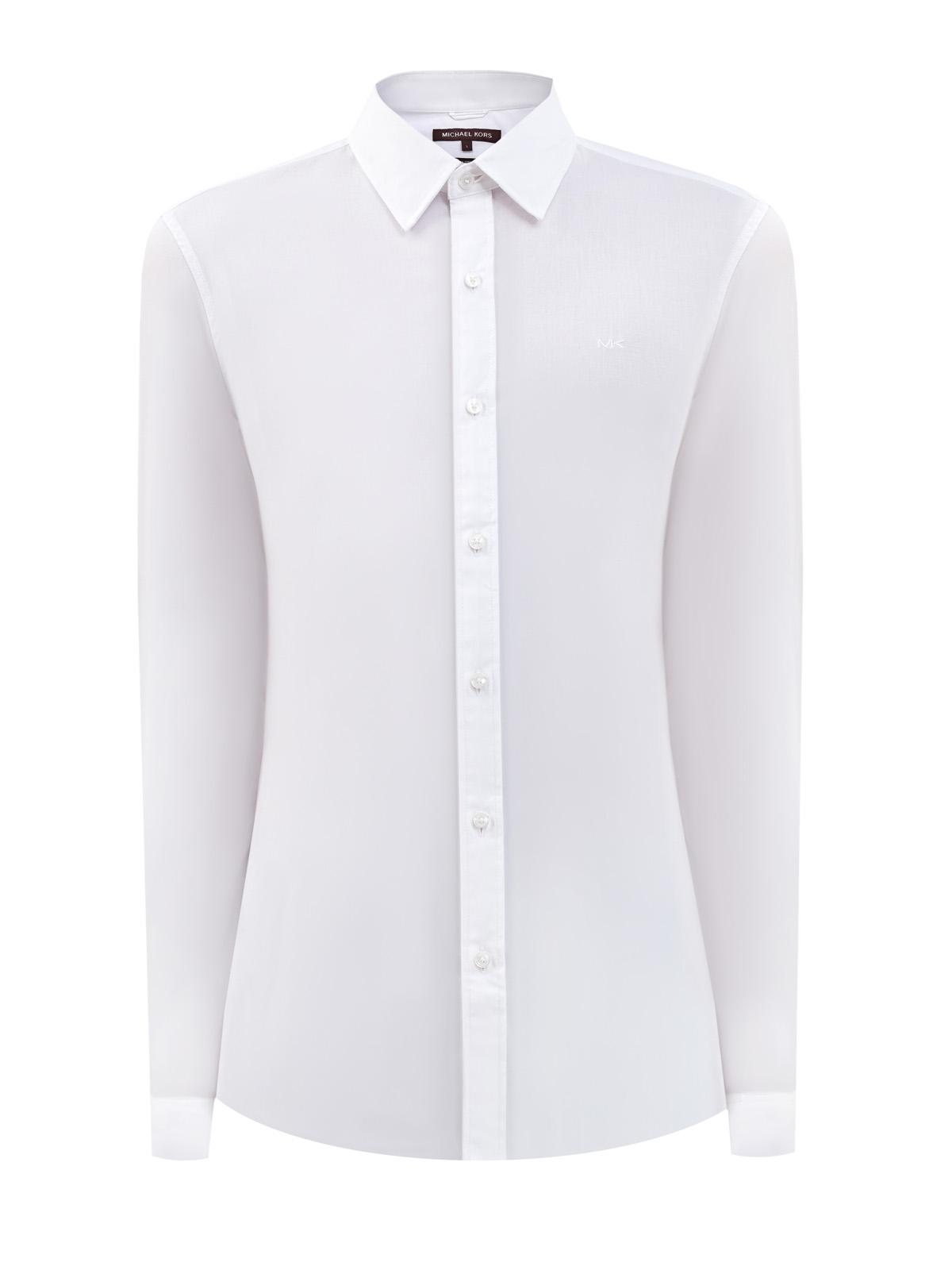 Белая рубашка кроя Slim Fit изгладкого эластичного хлопка