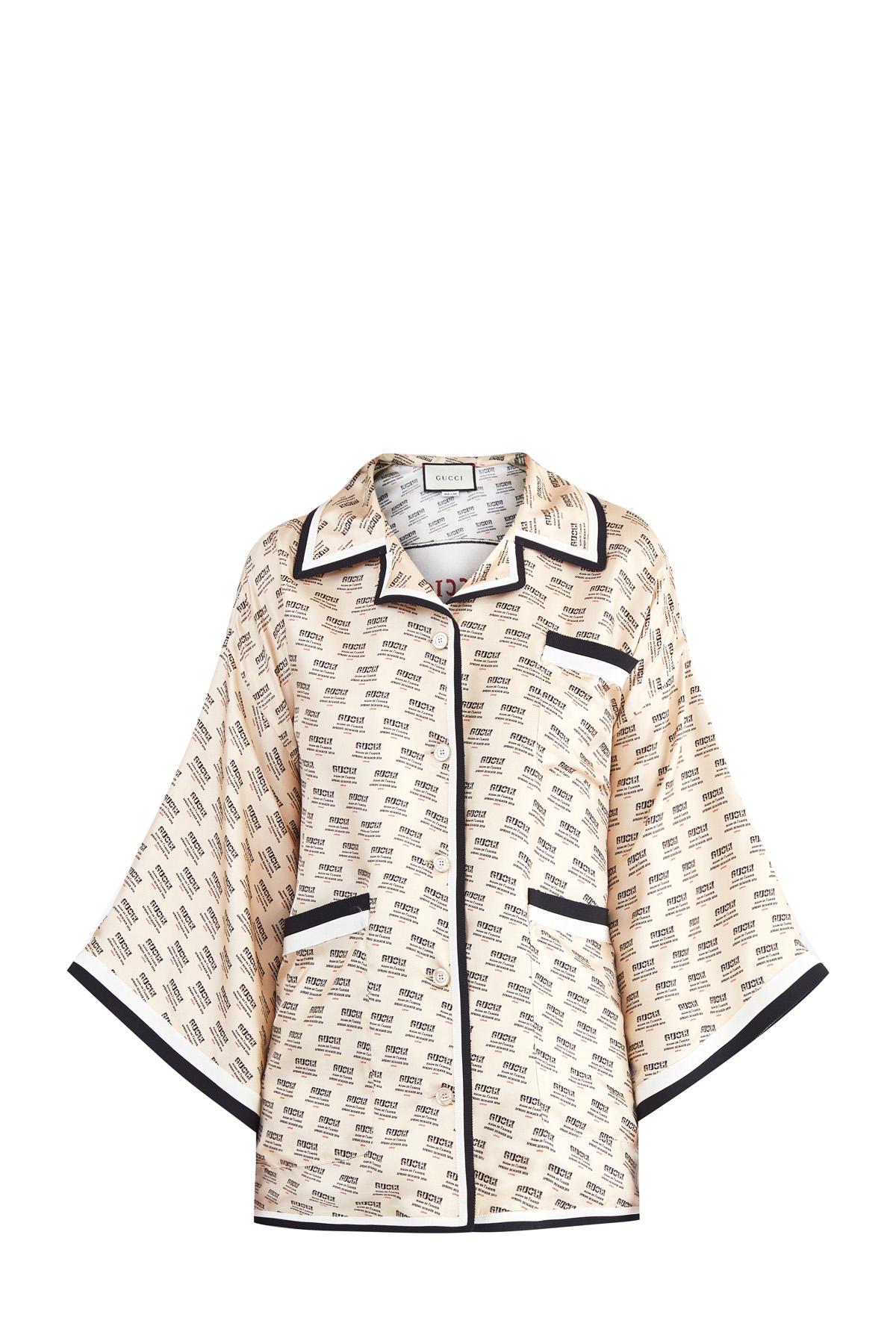 ff593bf67ab Женская блузка GUCCI длинный рукав
