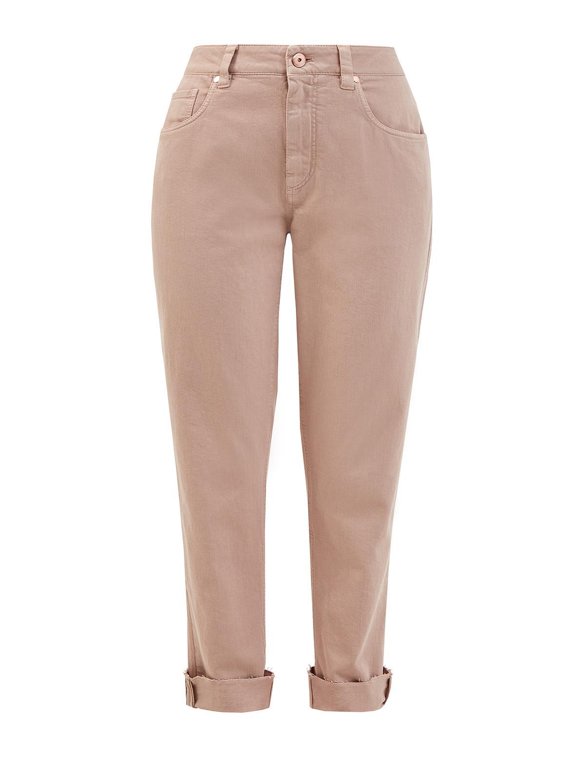 Высокие джинсы из окрашенного вручную денима