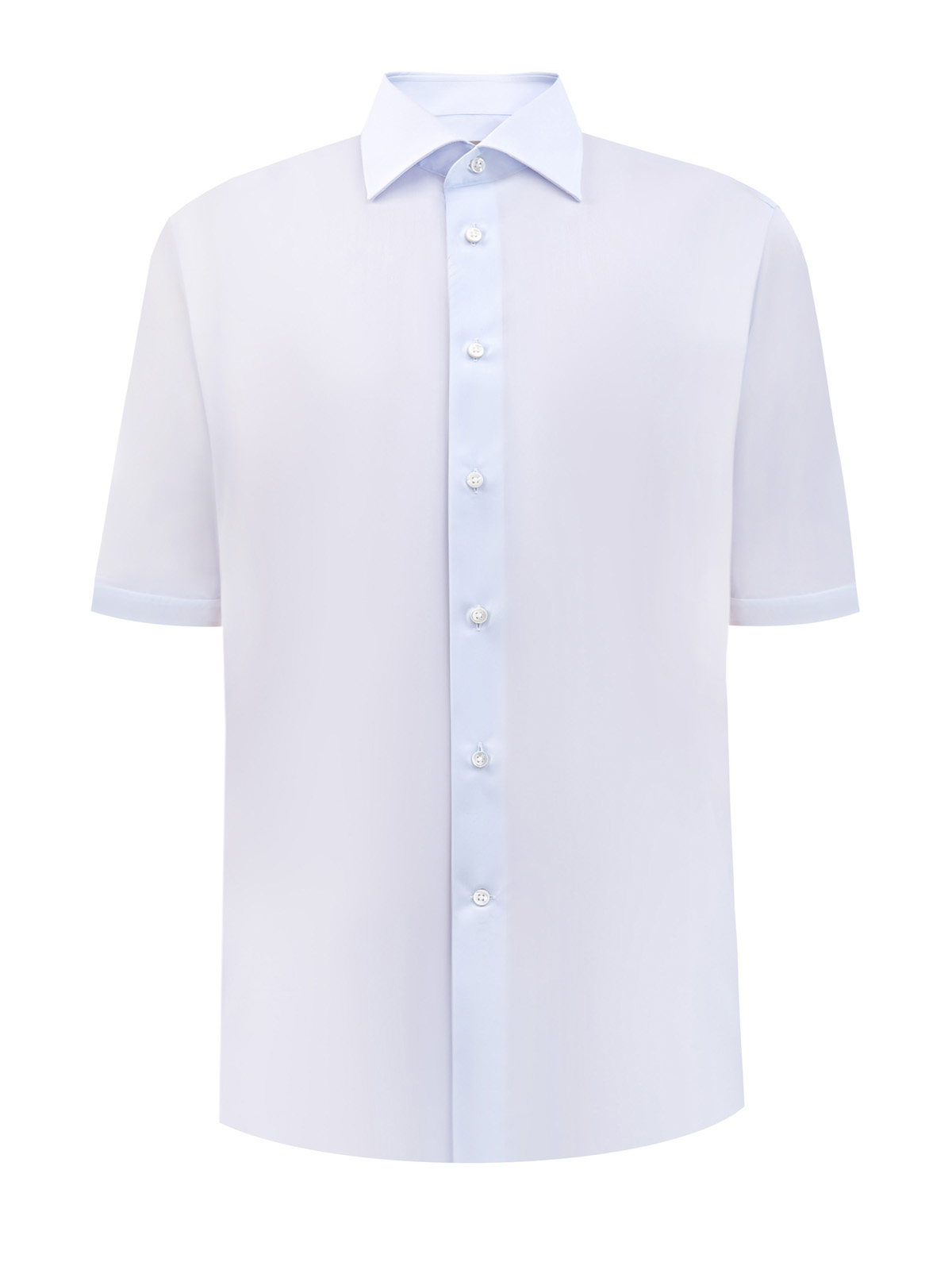 Рубашка из гладкого хлопка Impeccabile с короткими рукавами
