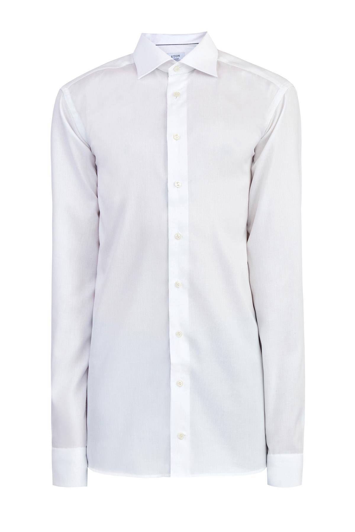 Рубашка кроя Contemporary из фактурного твила с удлиненными рукавами