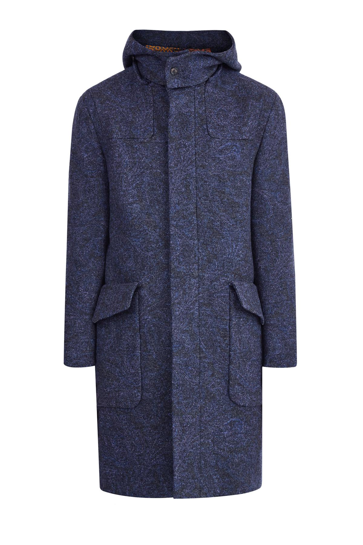 Шерстяное пальто с peach-эффектом и карманами