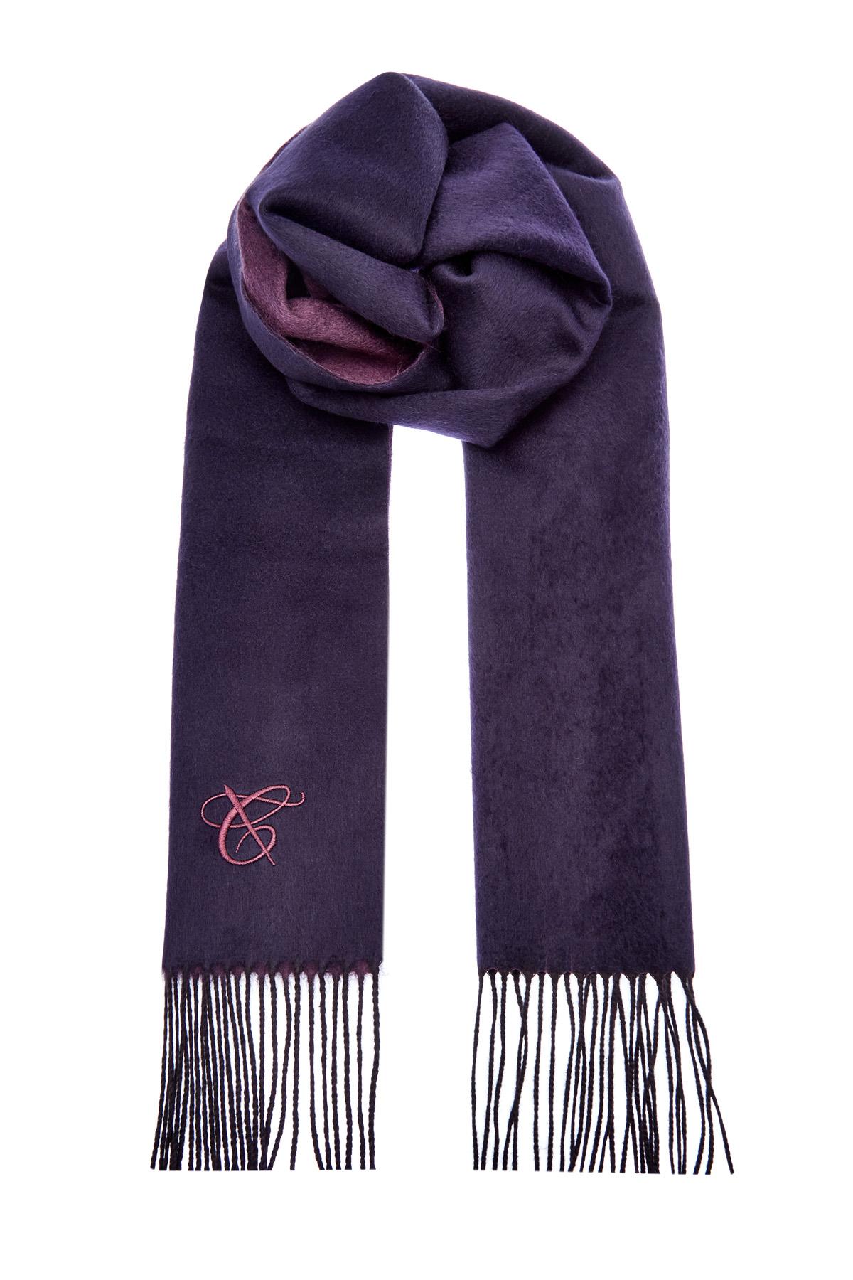 Двусторонний шарф из шелка и кашемира фото