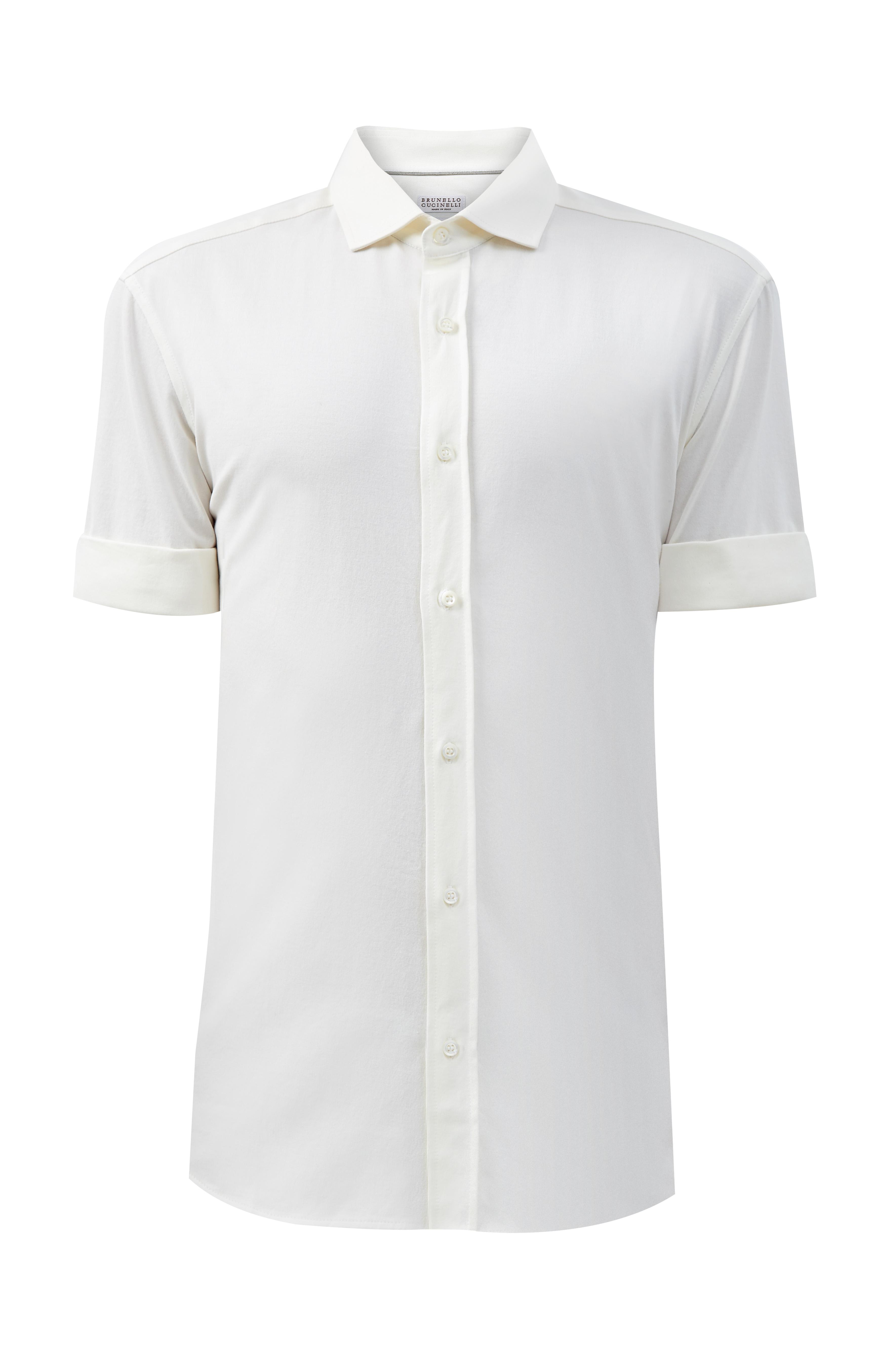 Приталенная рубашка из хлопка джерси
