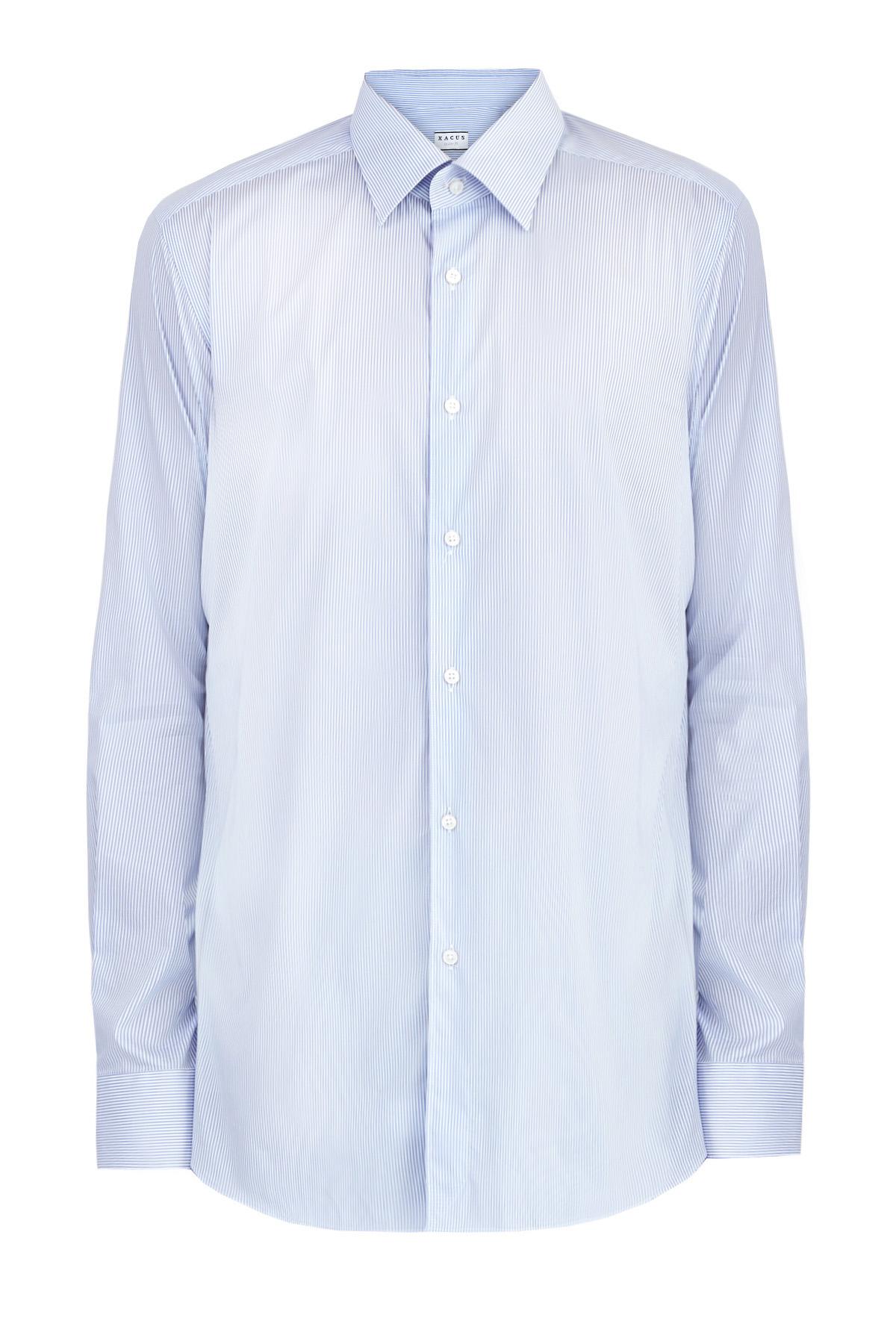 Рубашка из поплина в тонкую полоску комфортного кроя Tailor Fit