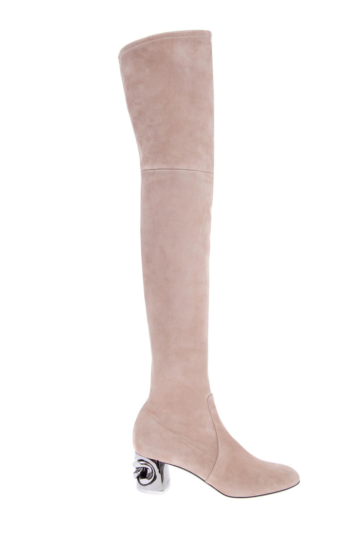 женские ботфорты на каблуке casadei