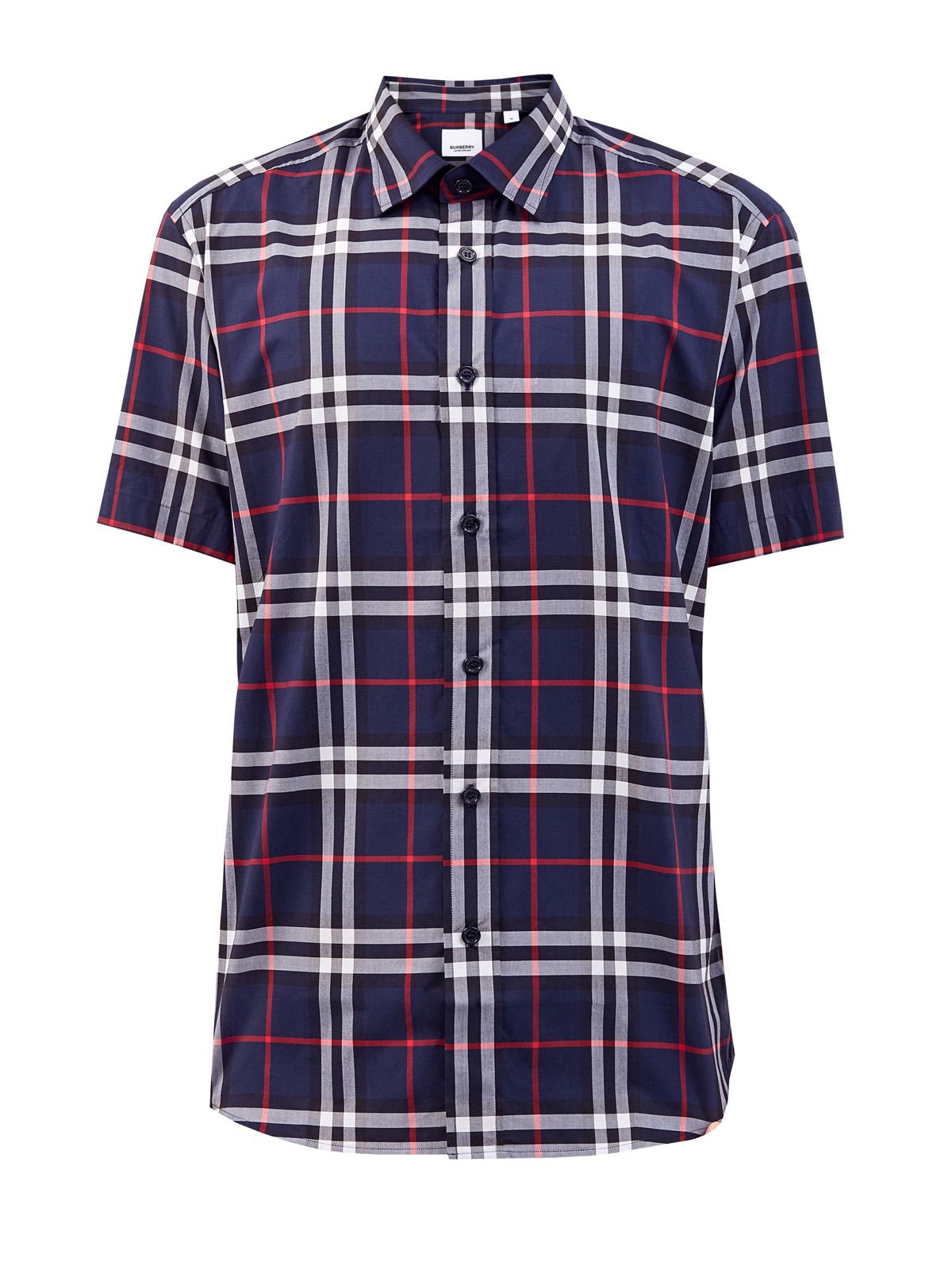 Рубашка из хлопкового поплина с принтом в клетку