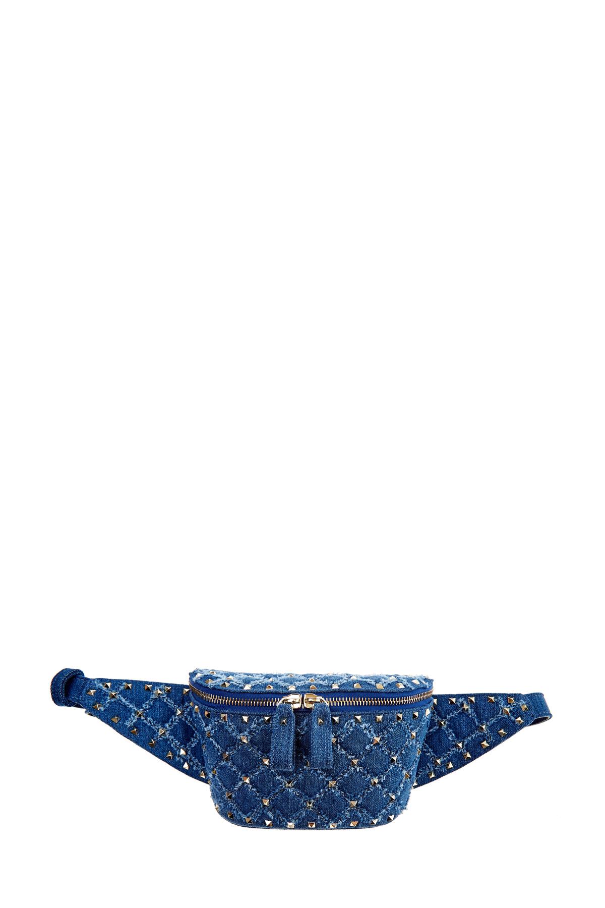 Купить со скидкой Поясная сумка Rockstud Spike из денима с отделкой заклепками