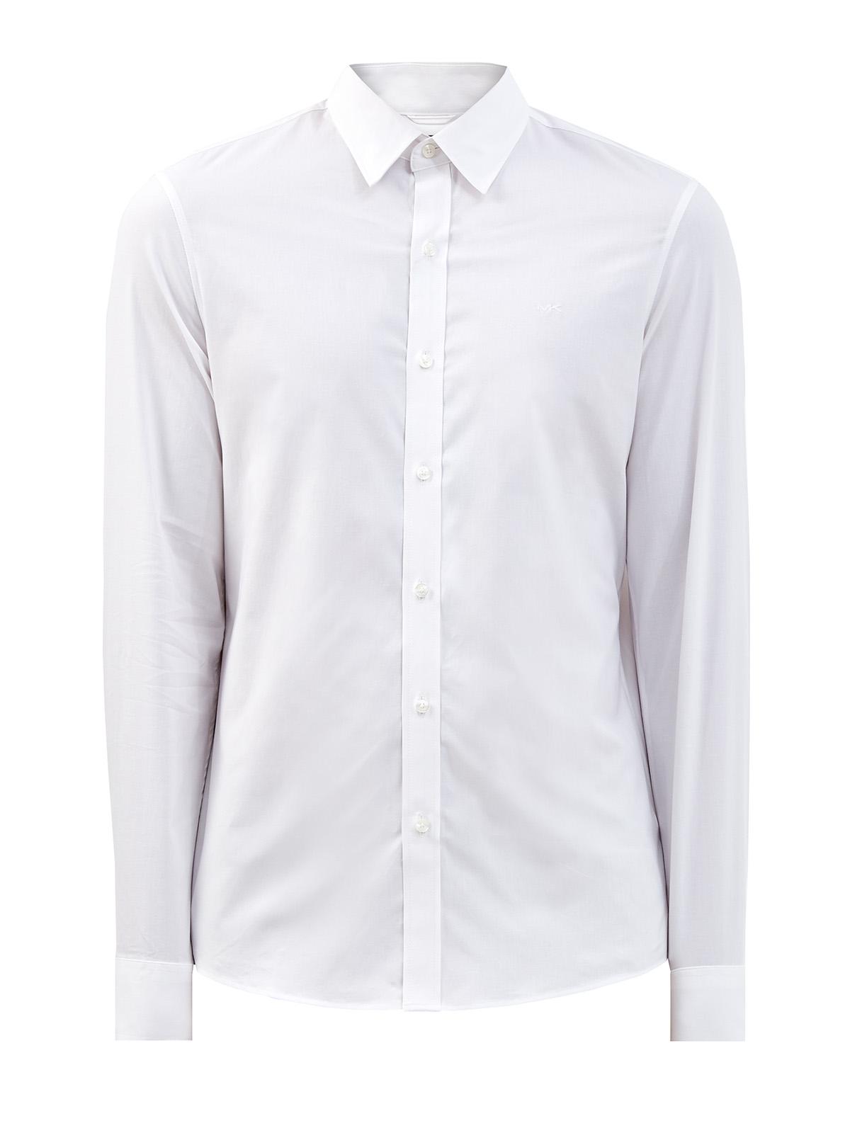 Рубашка в классическом стиле из эластичного поплина