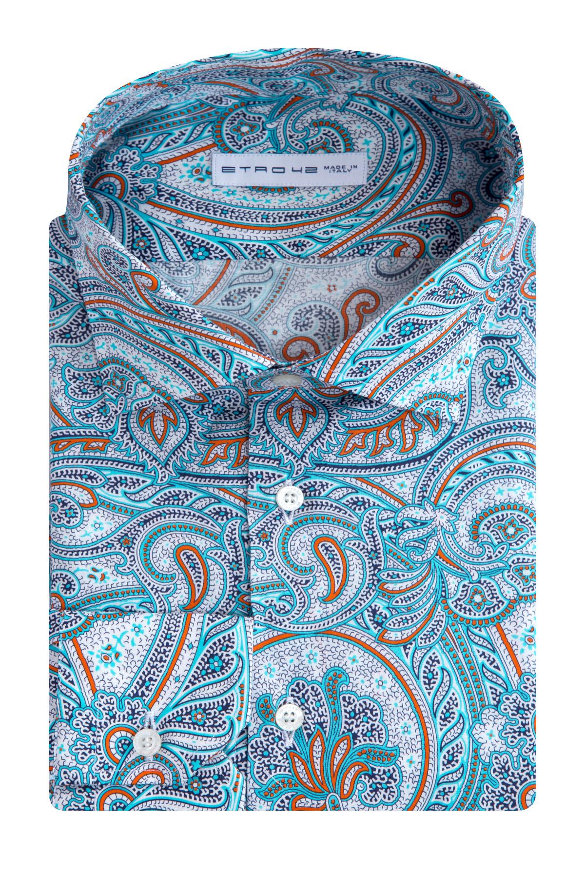 Купить Рубашка, ETRO, Италия, хлопок 96%, эластан 4%