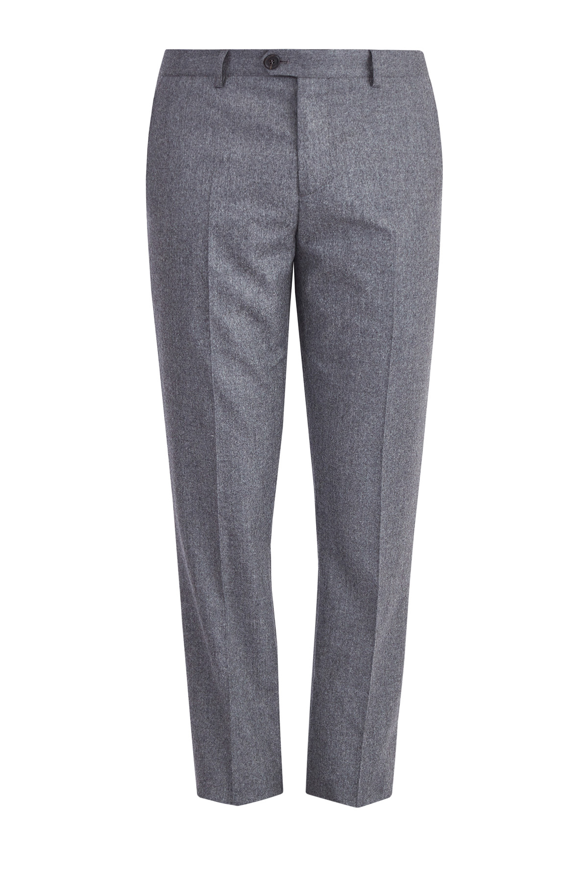 Классические серые брюки из шерстяной фланели фото