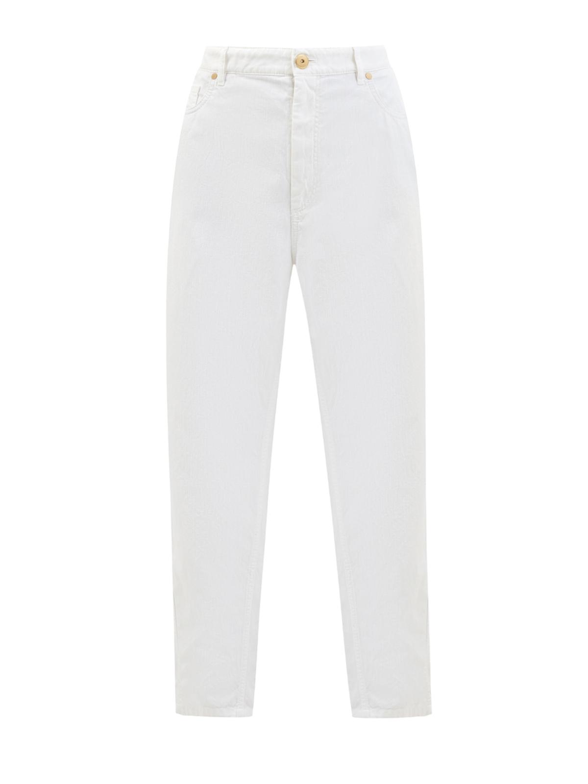 Светлые джинсы-mom's изхлопка ильна