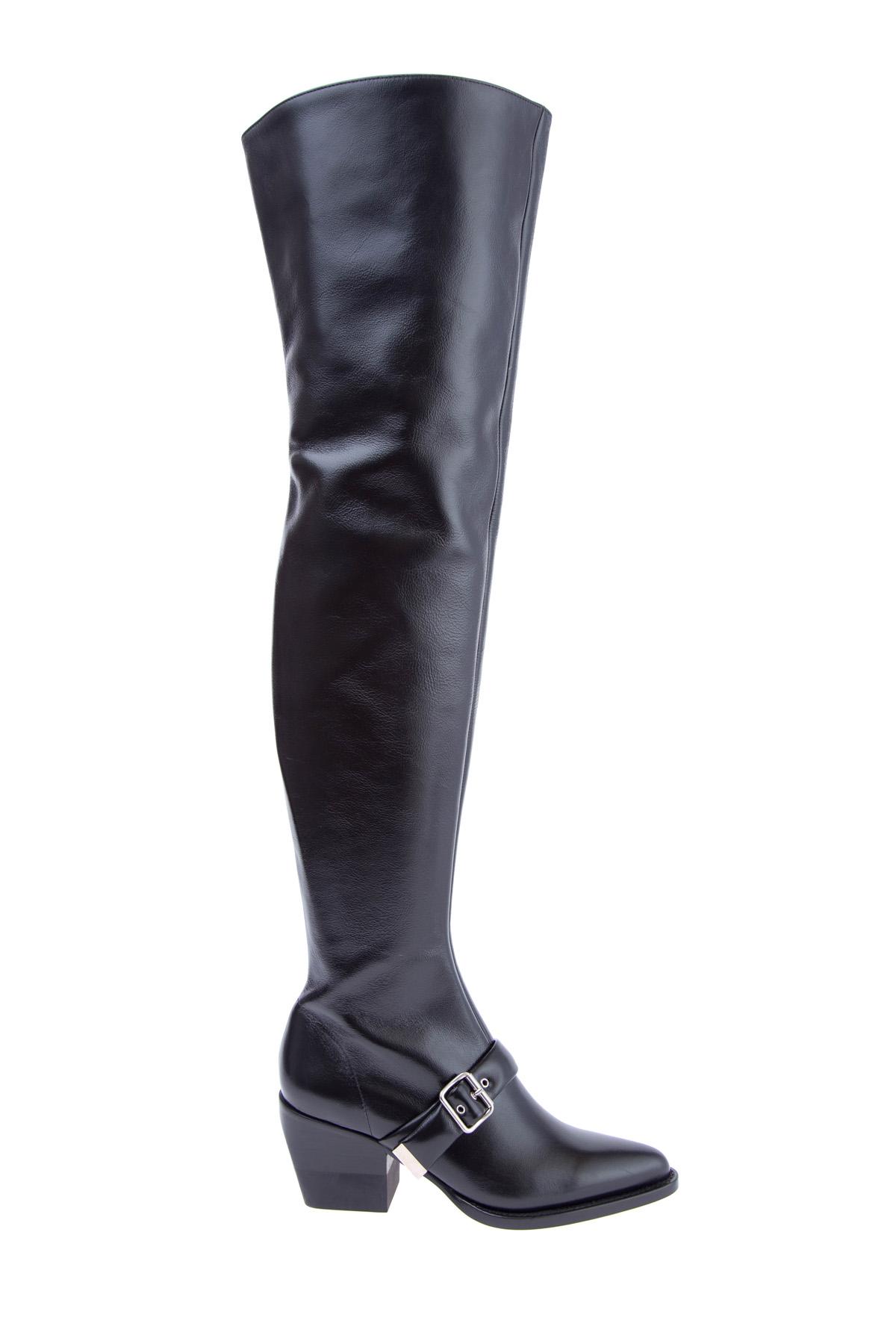 женские ботфорты на каблуке chloe