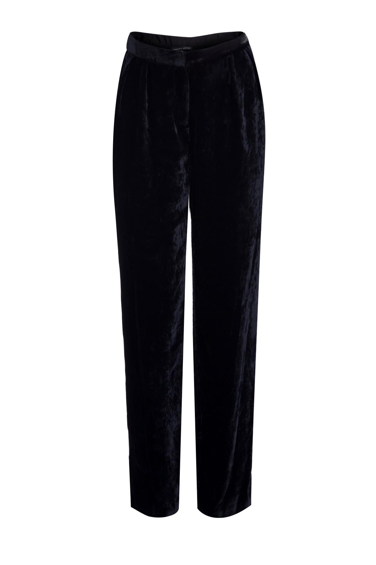 63f9c1969bea Женские прямые брюки из бархата с заложенными от талии складками ...