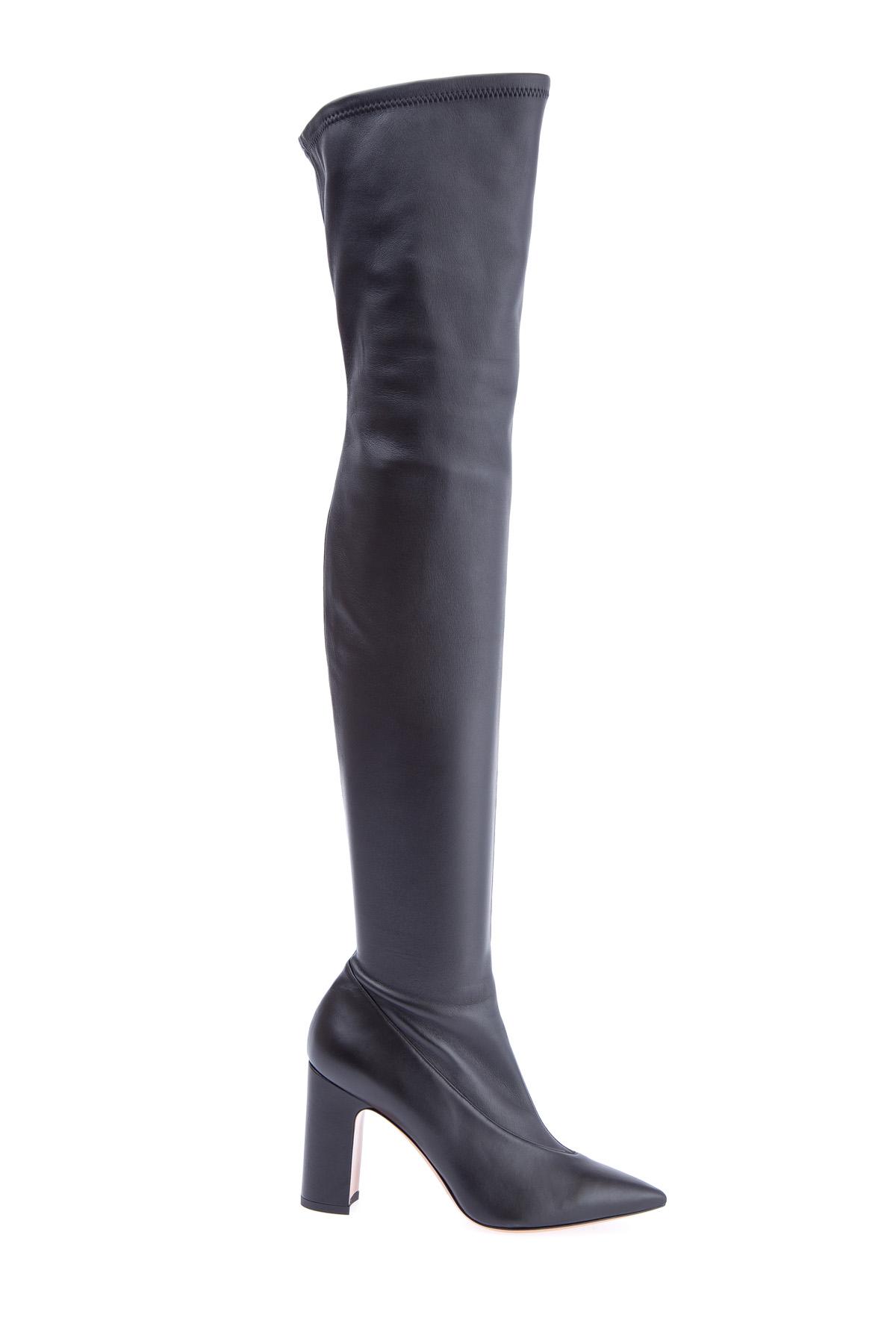 женские ботфорты на каблуке valentino