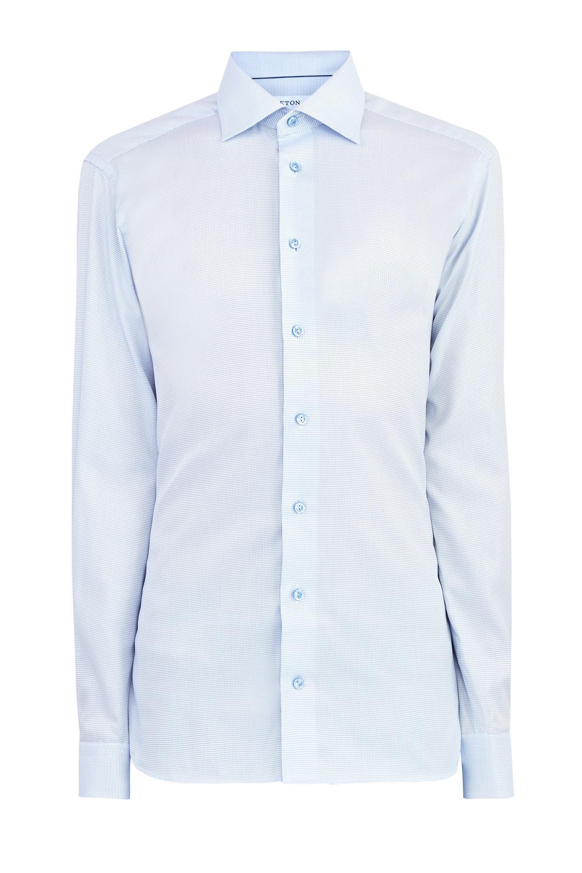Рубашка Contemporary из твила с тканым микро-принтом в клетку
