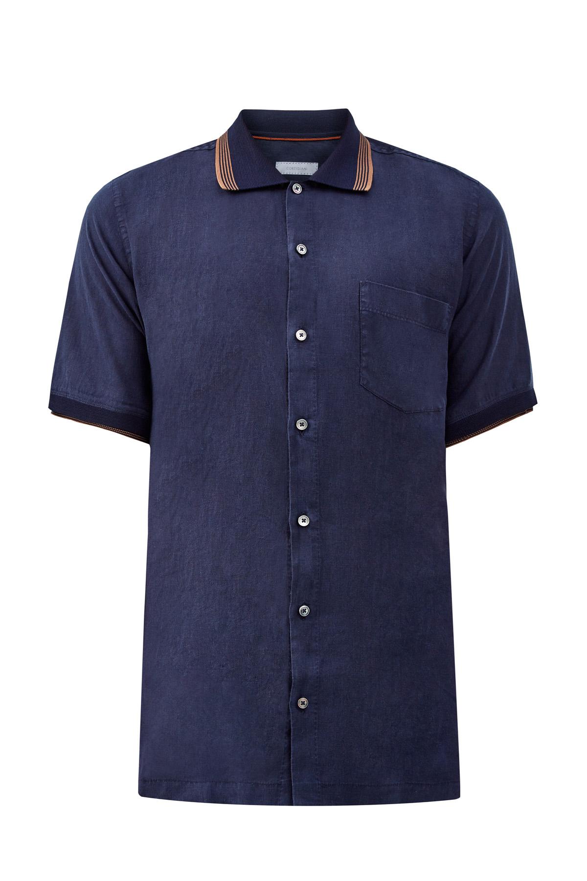 Рубашка с короткими рукавами изо льна
