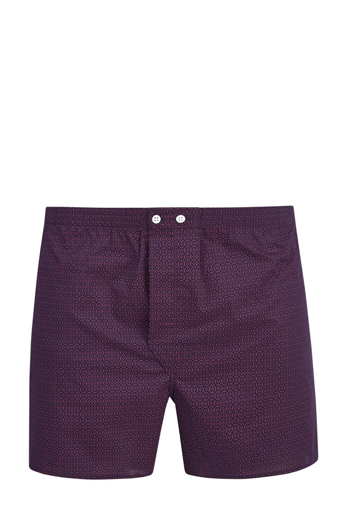 Купить Трусы-шорты из батиста с принтом логотипа бренда, DEREK ROSE, Британия, хлопок 100%