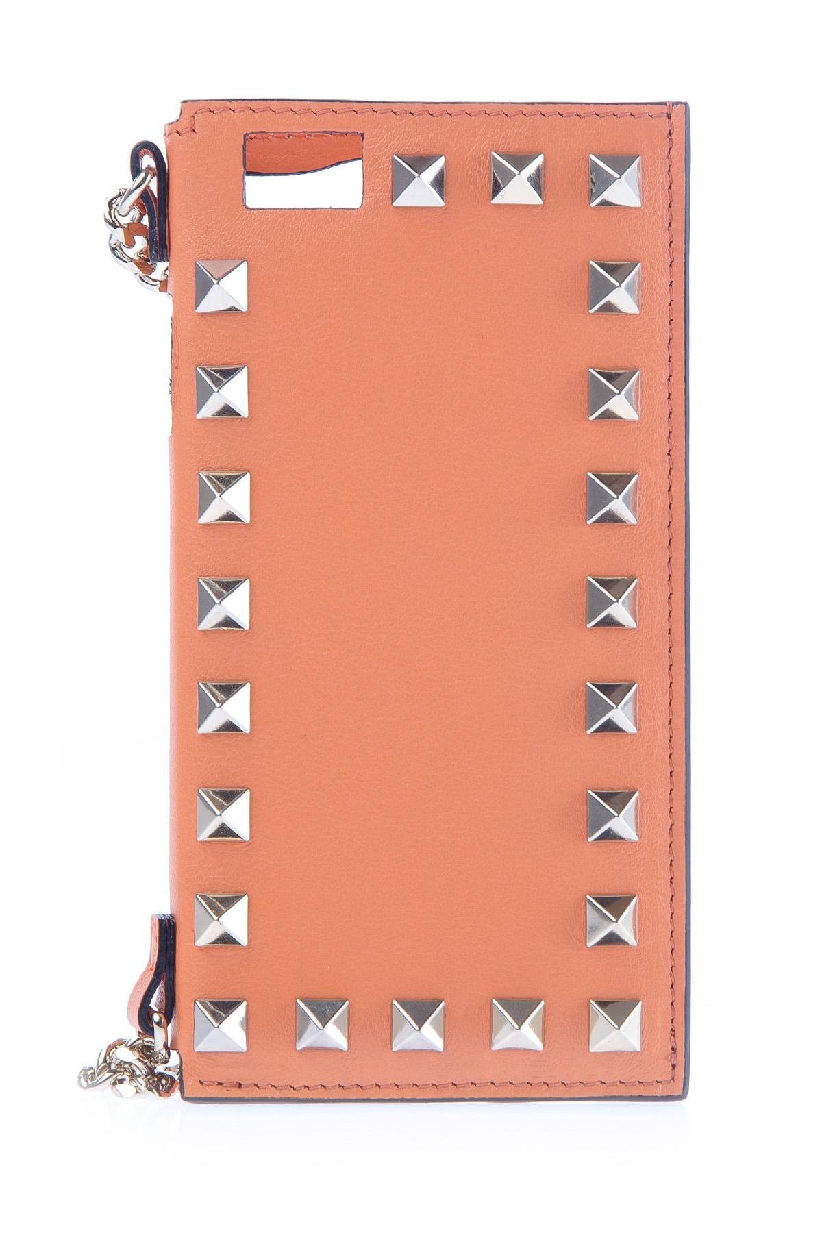 Купить Чехол-клатч для iPhone 6, VALENTINO, Италия, кожа 100%