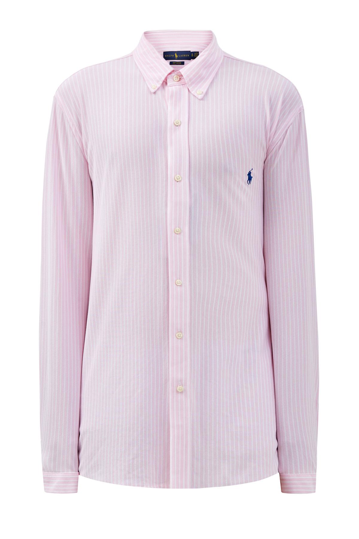 Рубашка из эластичного хлопка пике в полоску