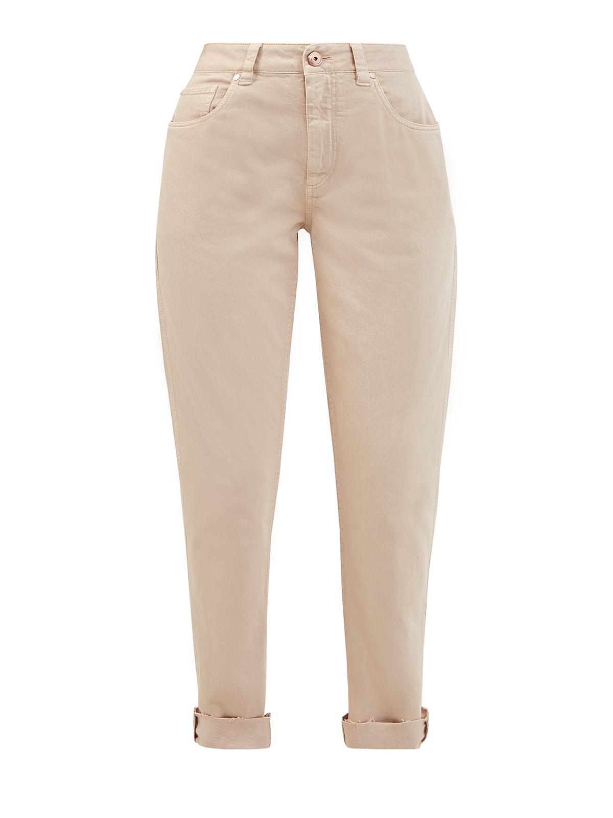 Окрашенные вручную джинсы из хлопкового денима Soft