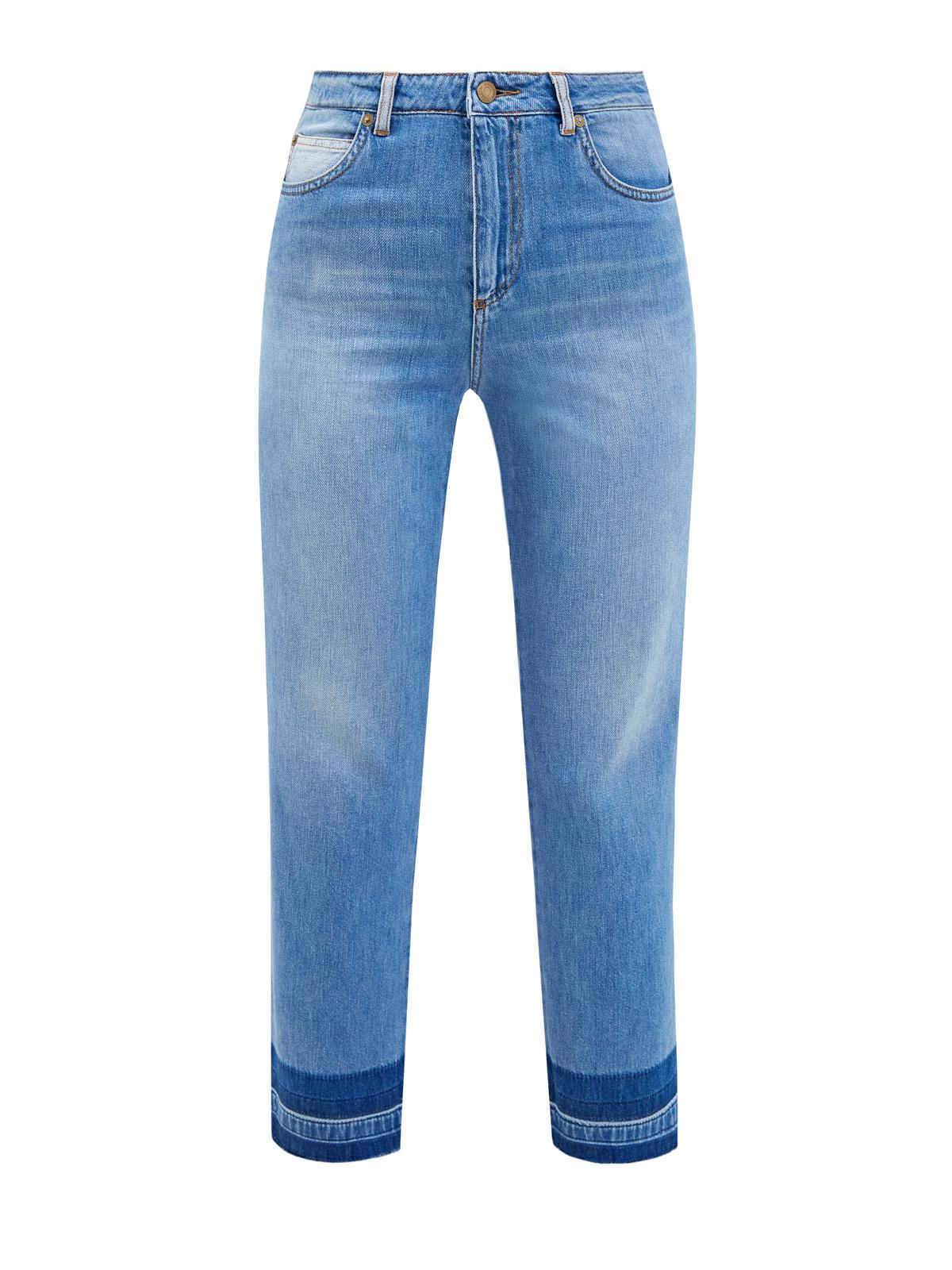 женские укороченные джинсы ermanno firenze