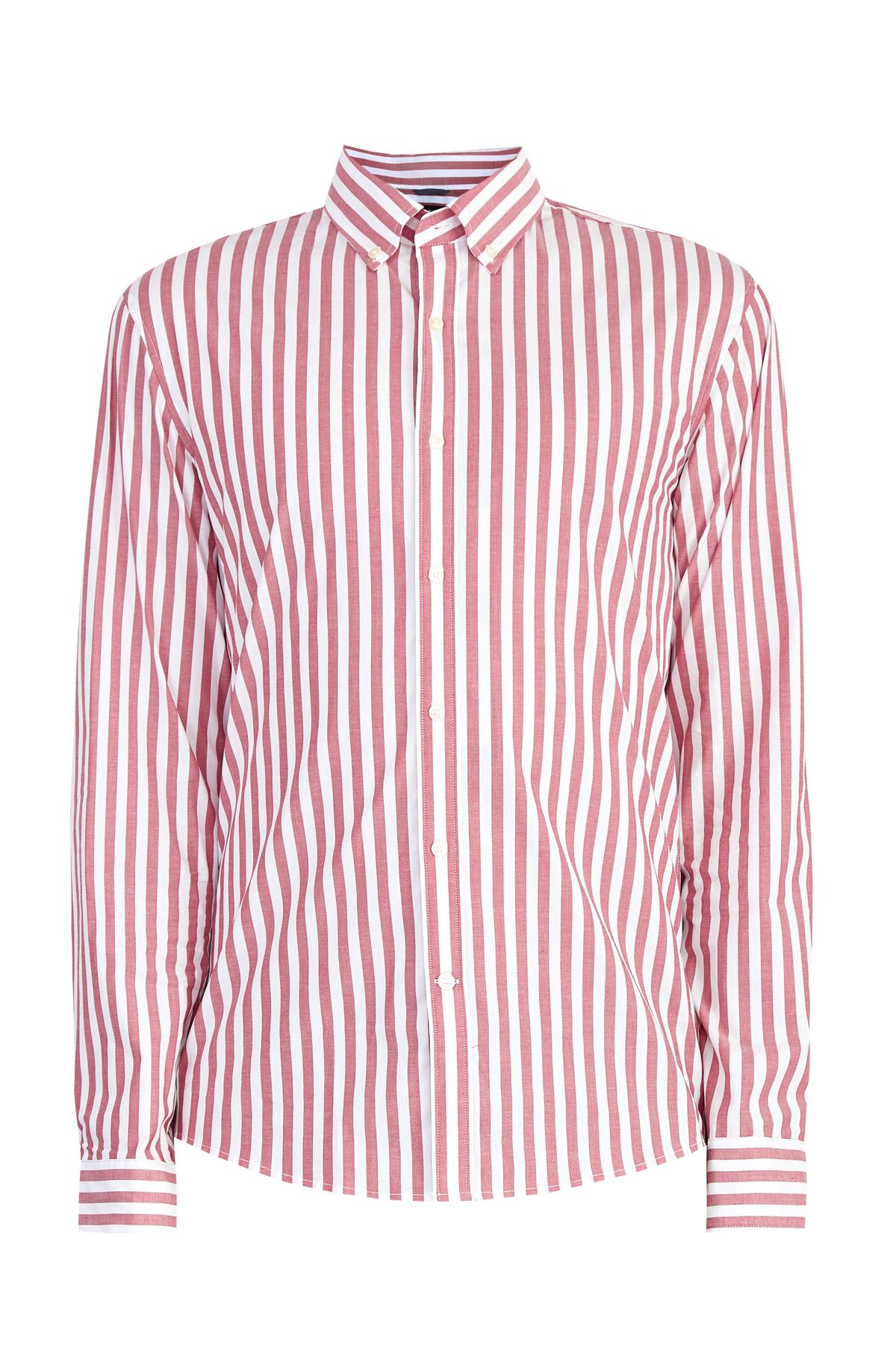 Рубашка из хлопкового поплина stretch в полоску