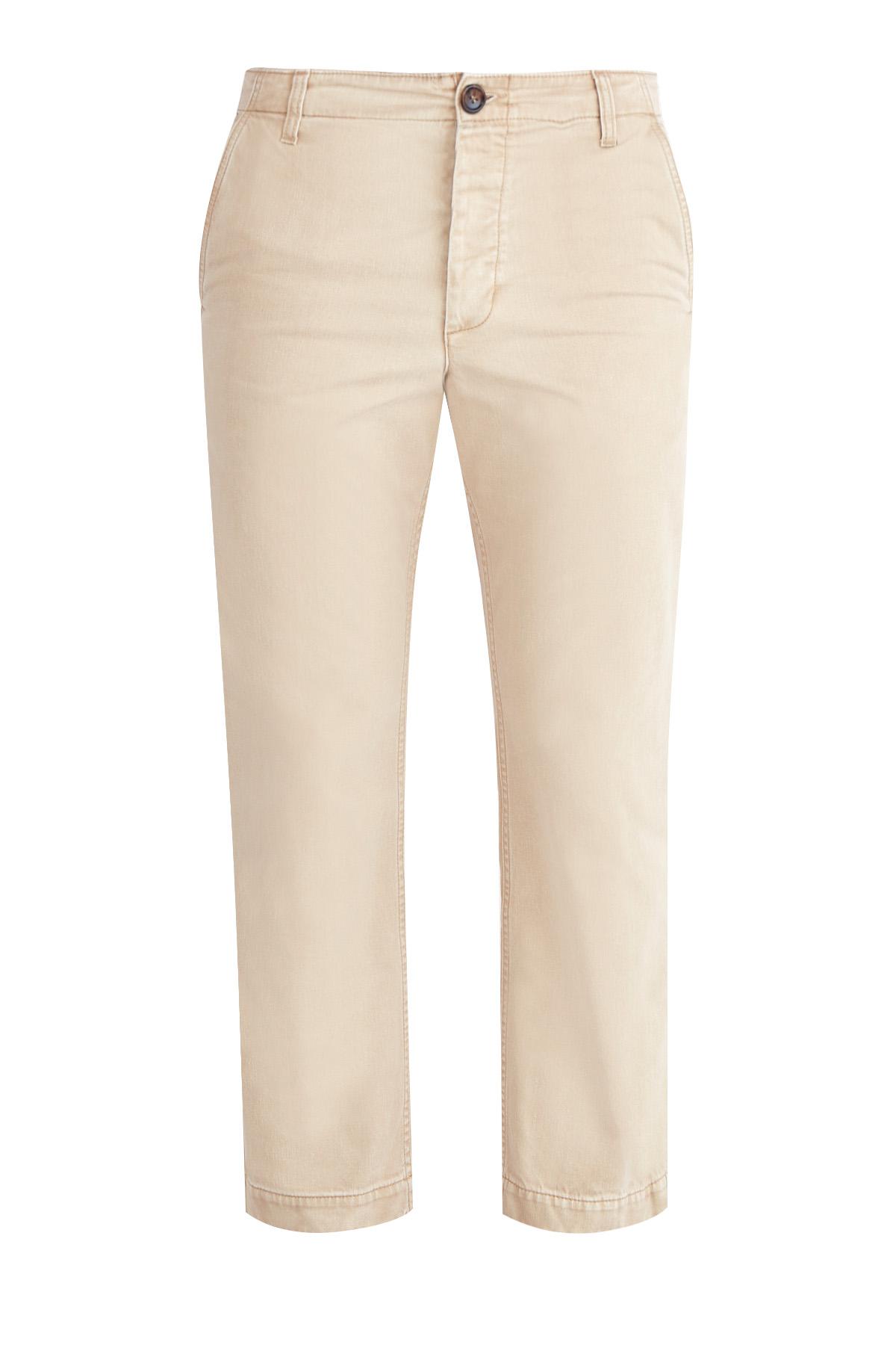 Укороченные брюки-чинос с аппликацией на спинке