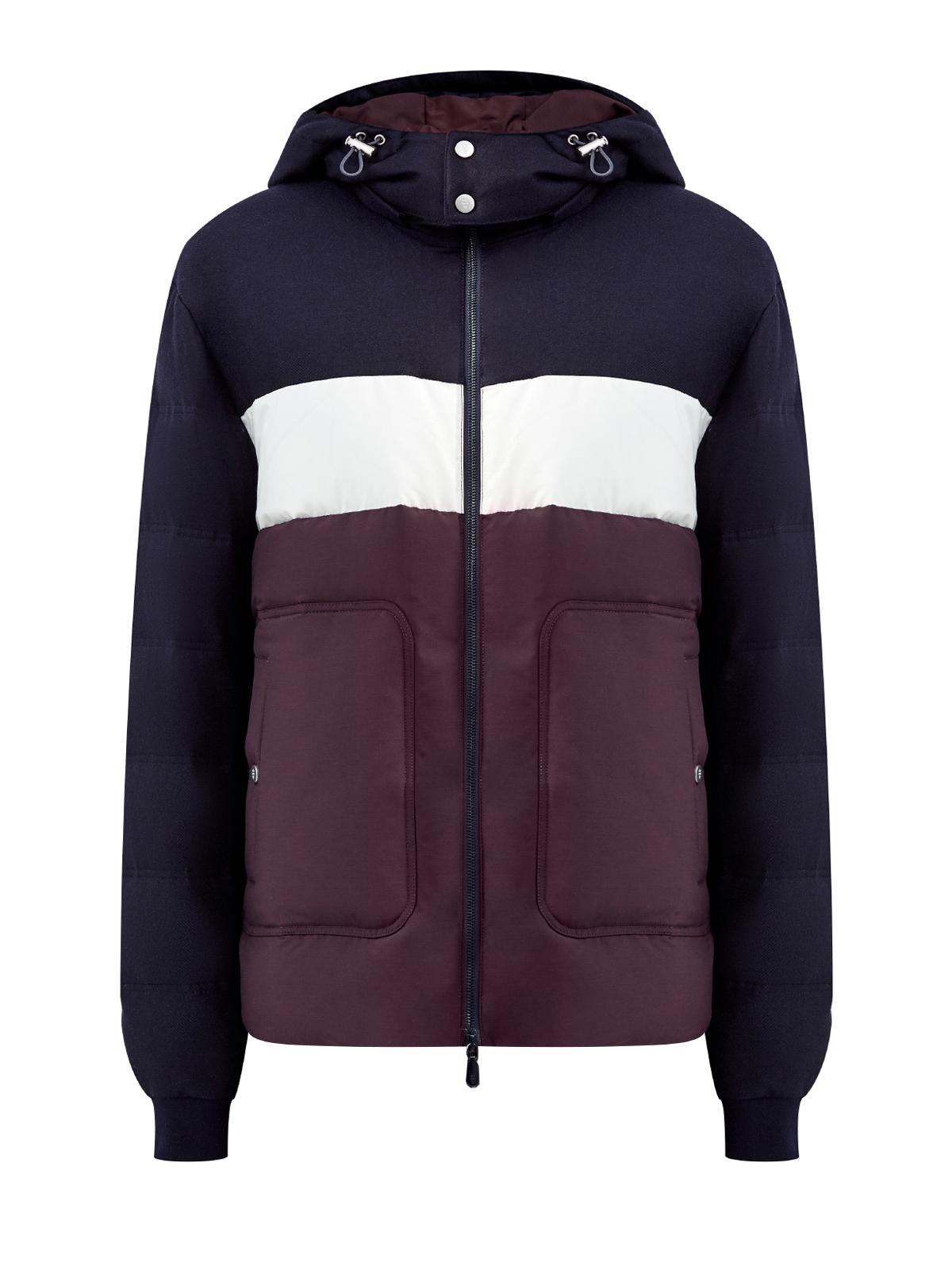 Куртка из шерсти и нейлона с отделкой colorblock