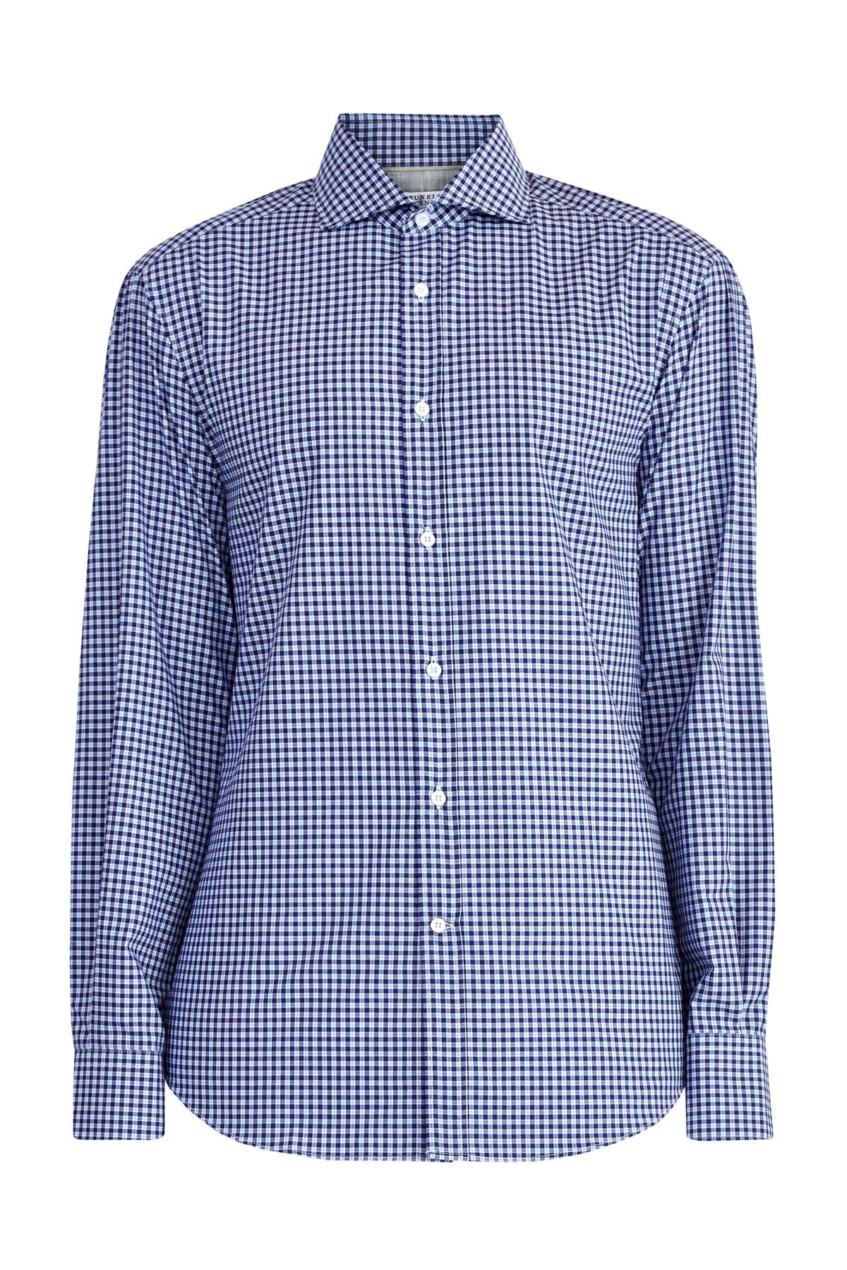 Рубашка приталенного кроя изхлопкового поплина