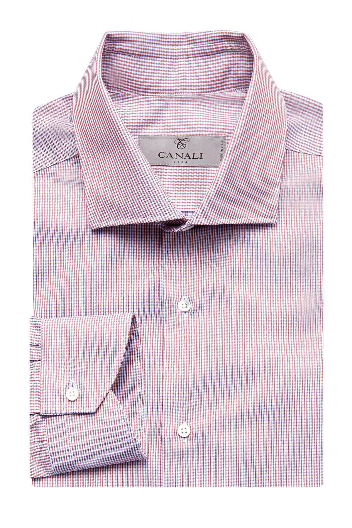 Классическая рубашка из поплина с микро-принтом фото