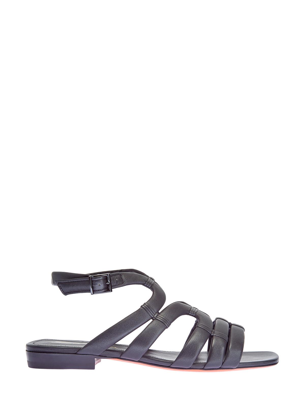 Открытые сандалии из мягкой матовой кожи