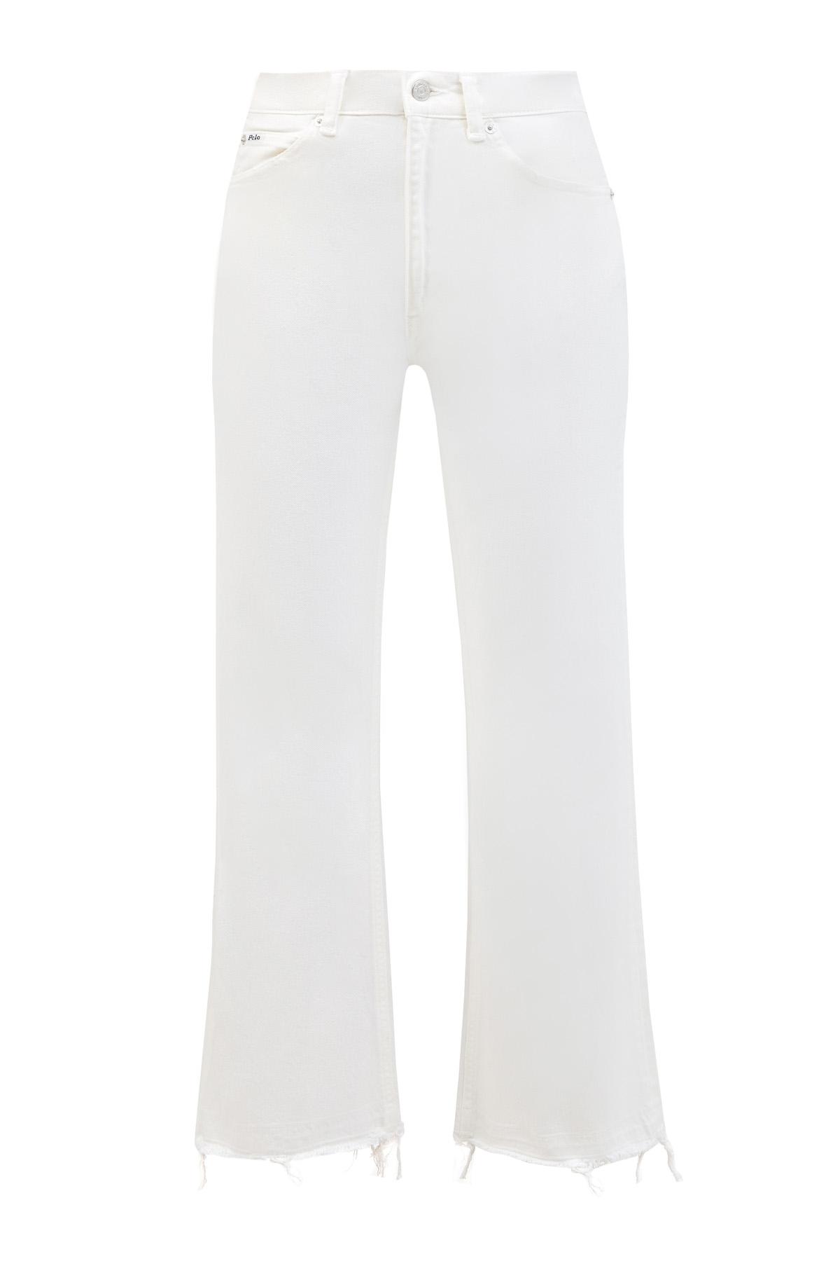 Расклешенные джинсы с эффектом необработанного края