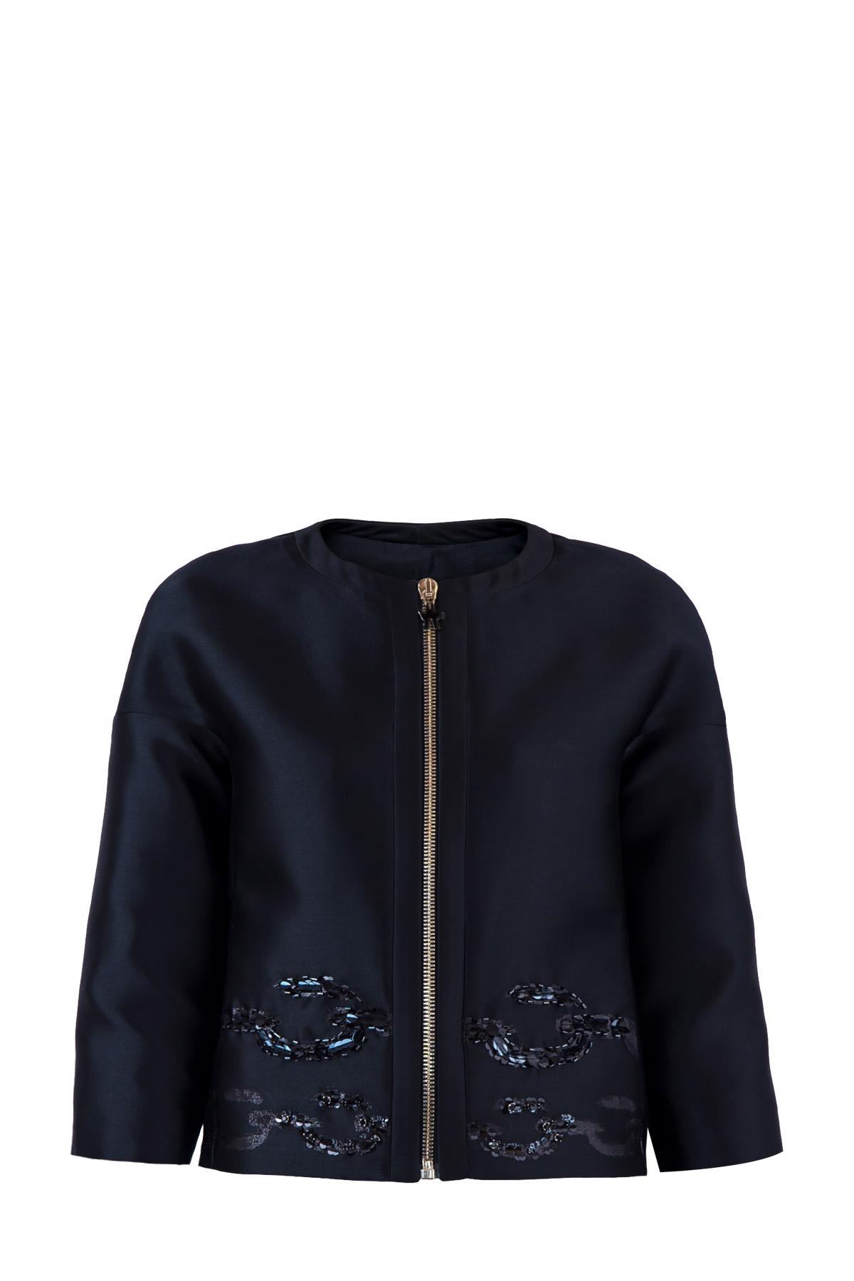 Купить Куртка, MONCLER, Италия, полиэстер 82%, шелк 16%, металлизированные волокна 2%, шелк 100%, полиэстер 81%, шелк 19%